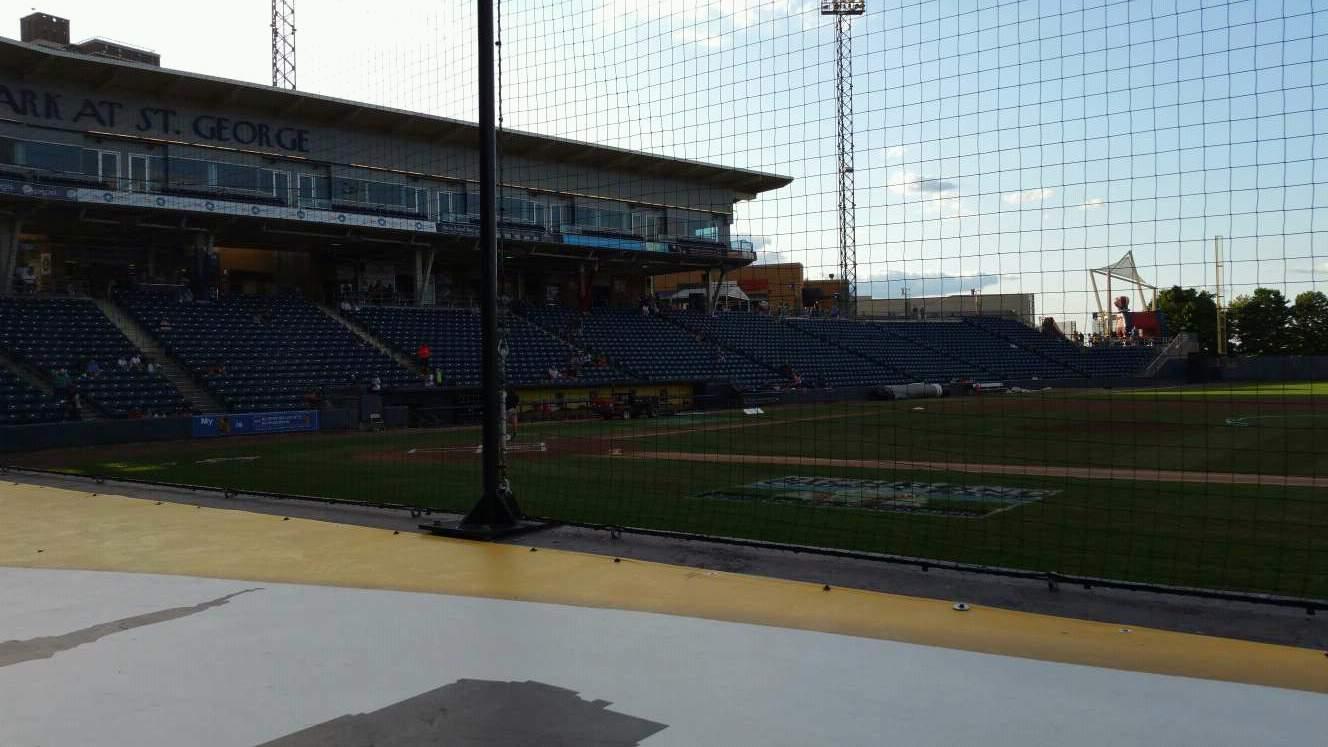 Richmond County Bank Ballpark Section 12 Row D Seat 1