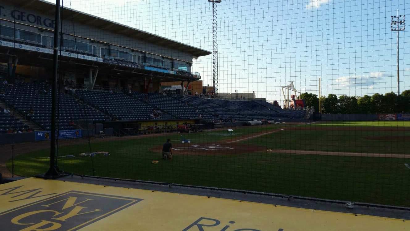 Richmond County Bank Ballpark Section 11 Row E Seat 1