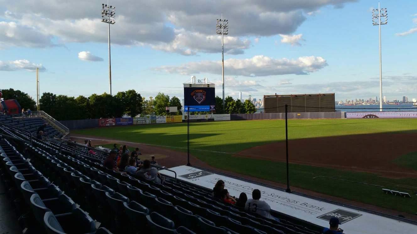 Richmond County Bank Ballpark Section 6 Row M Seat 1