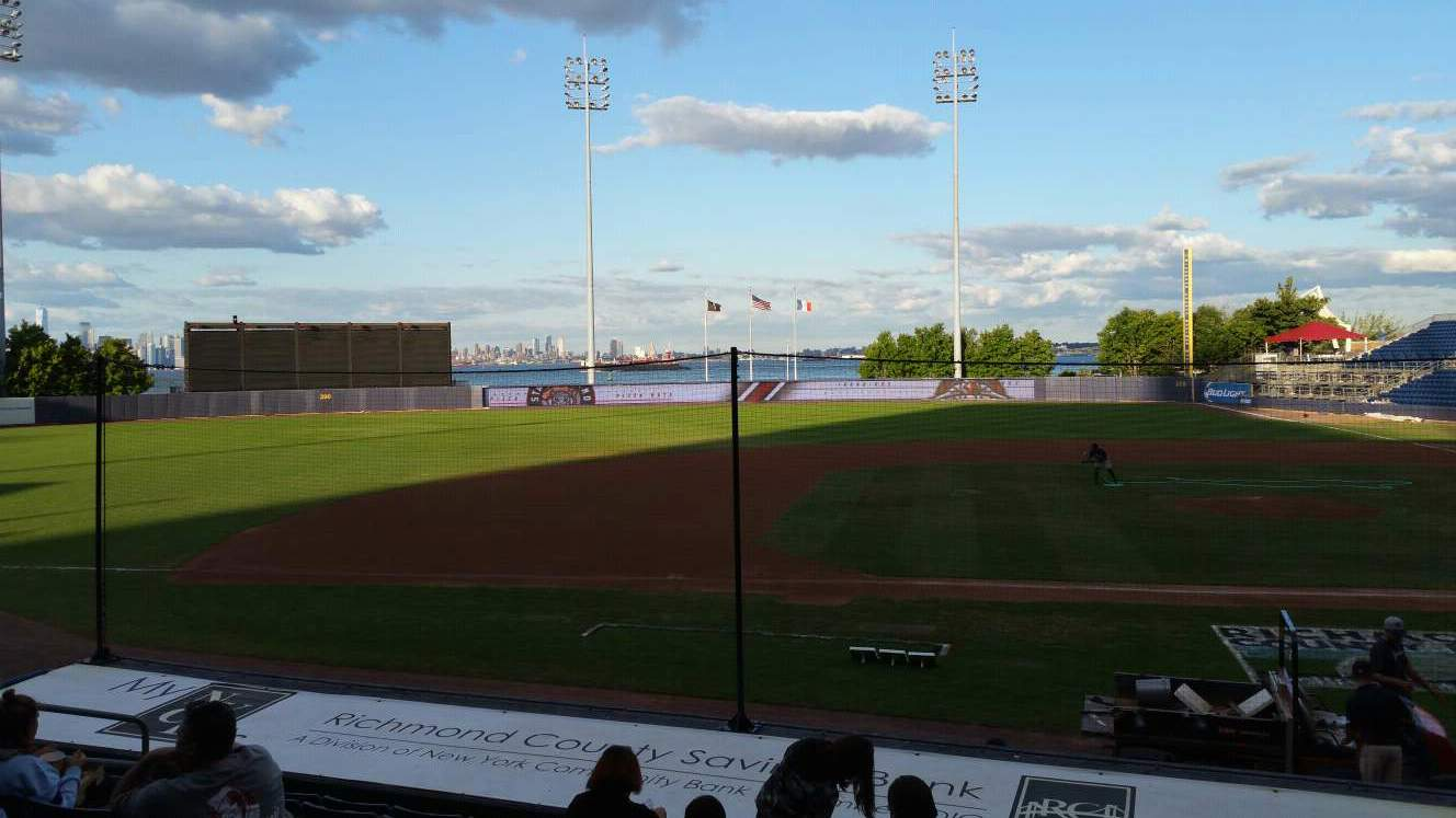 Richmond County Bank Ballpark Section 6 Row M Seat 11