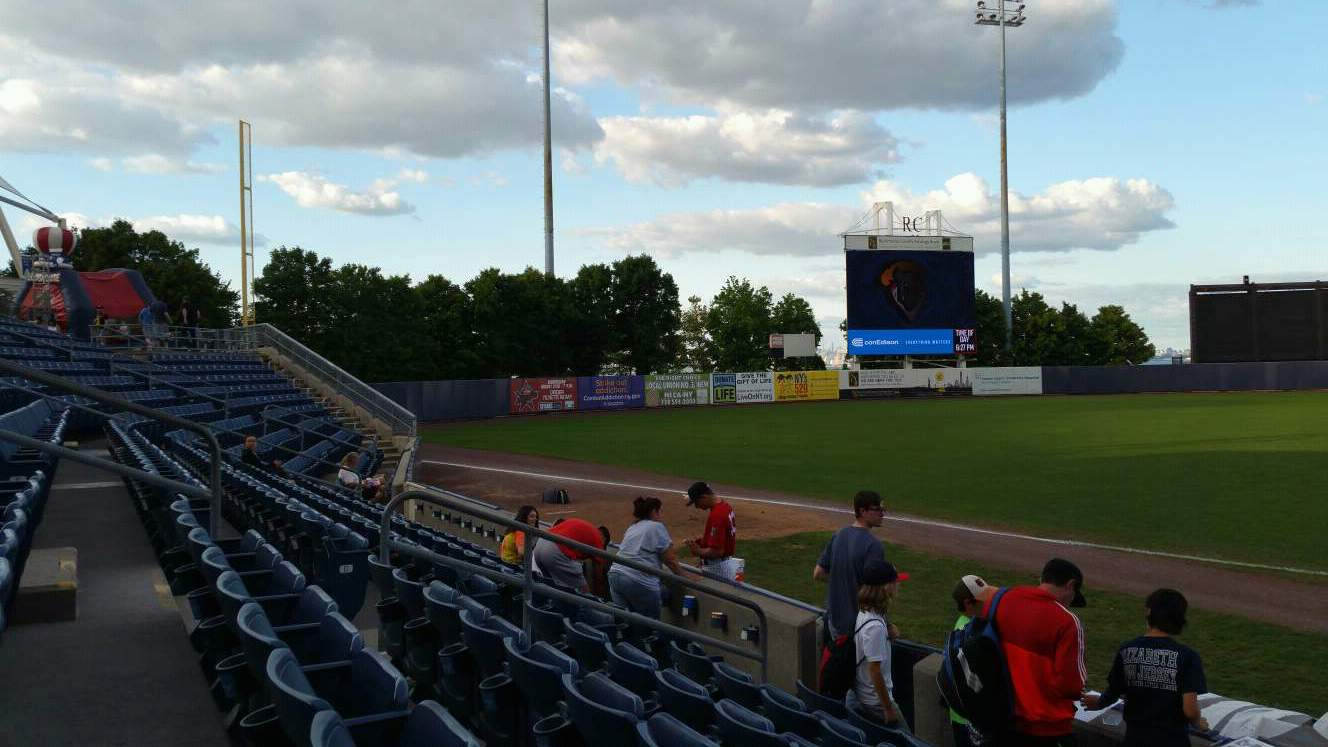 Richmond County Bank Ballpark Section 4 Row F Seat 13