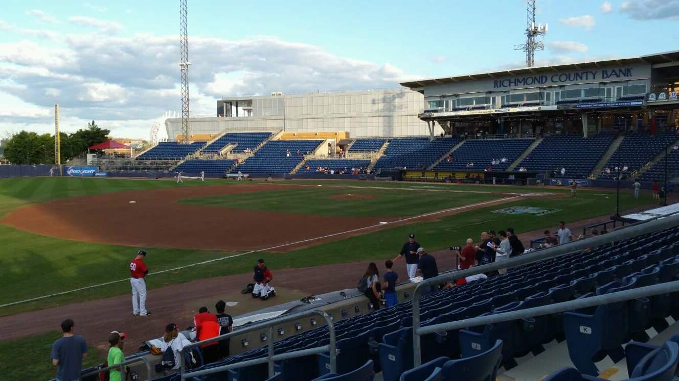 Richmond County Bank Ballpark Section 3 Row M Seat 6