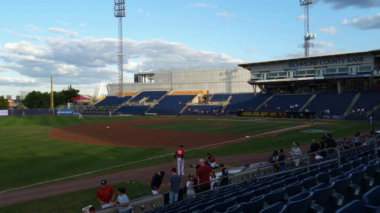 Richmond County Bank Ballpark Section 3 Row M Seat 17