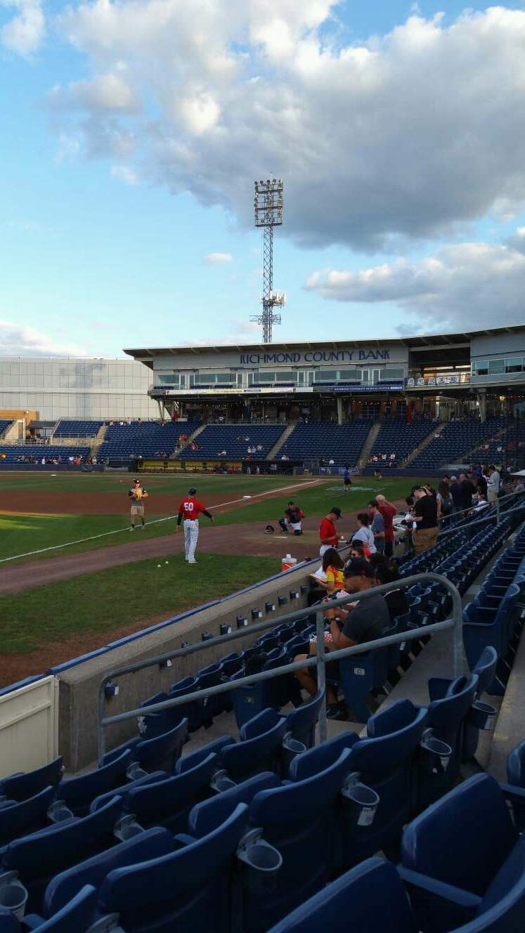 Richmond County Bank Ballpark Section 2 Row F Seat 9