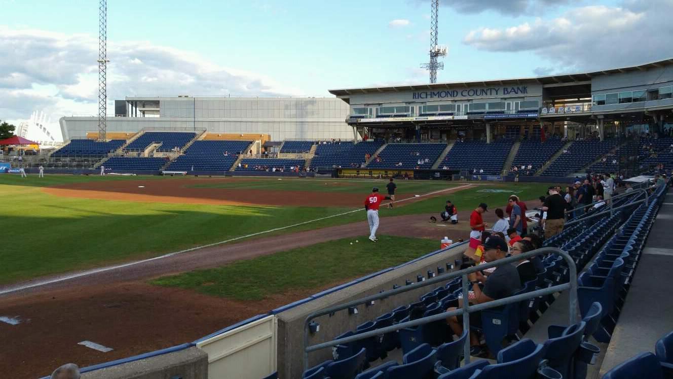 Richmond County Bank Ballpark Section 2 Row F Seat 9
