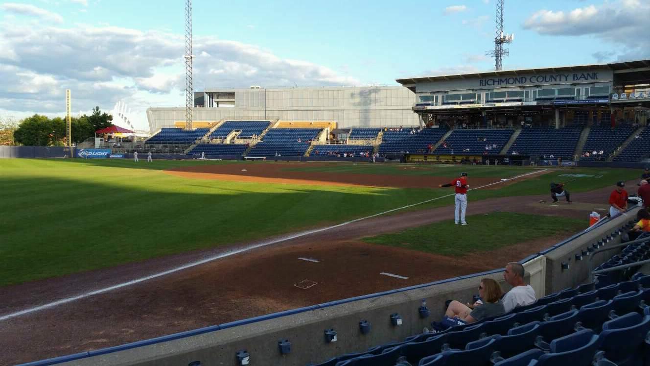 Richmond County Bank Ballpark Section 2 Row F Seat 18