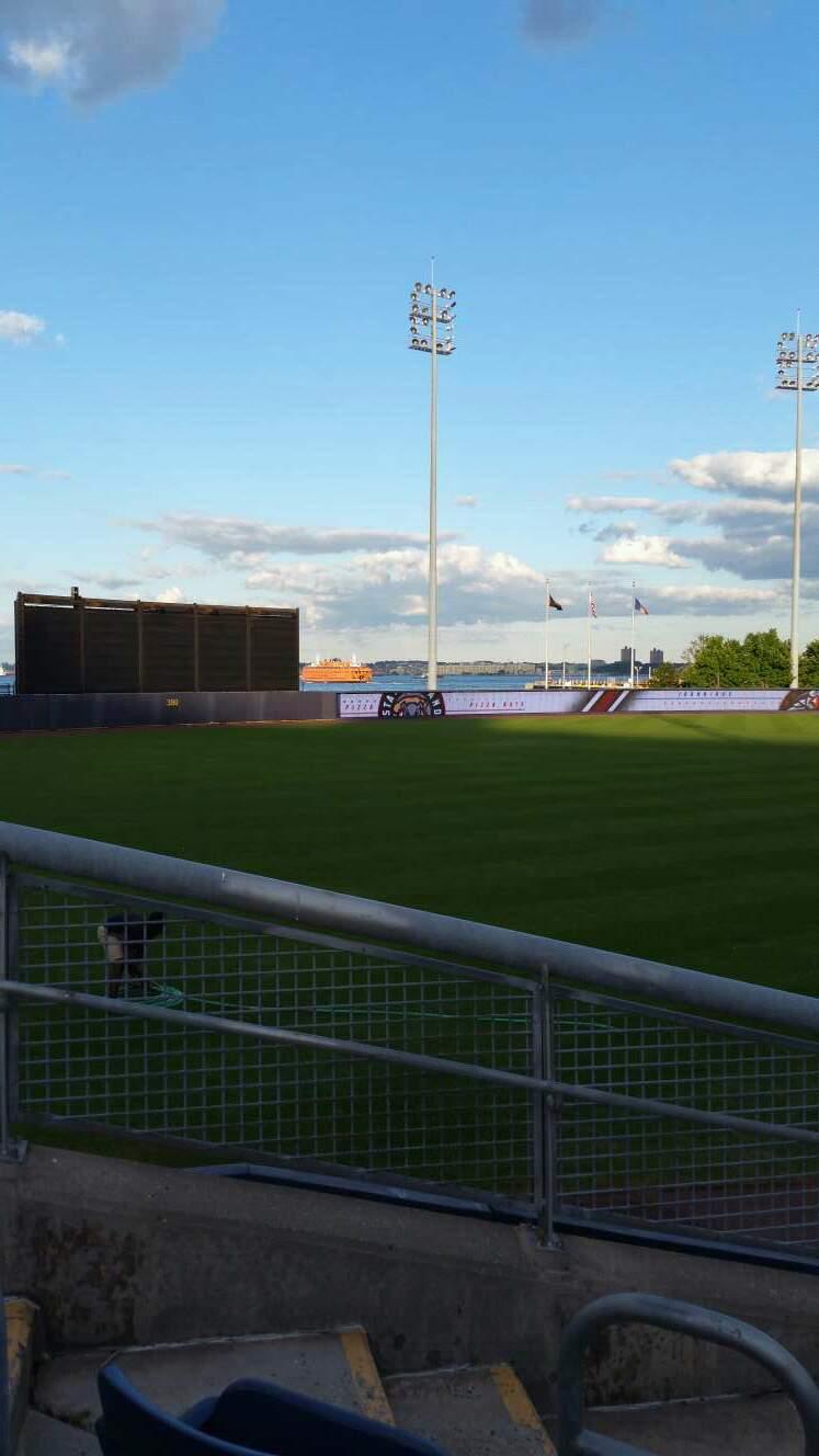 Richmond County Bank Ballpark Section 1 Row J Seat 18