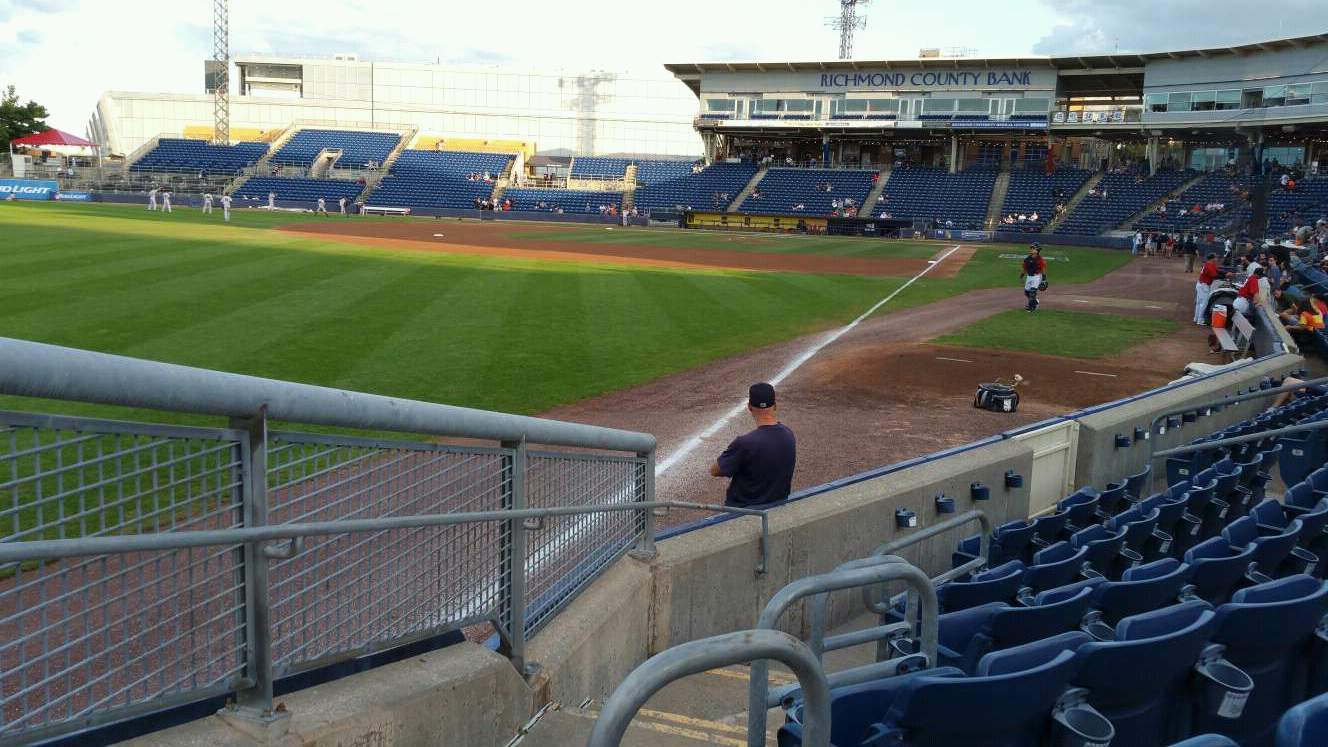 Richmond County Bank Ballpark Section 1 Row F Seat 19