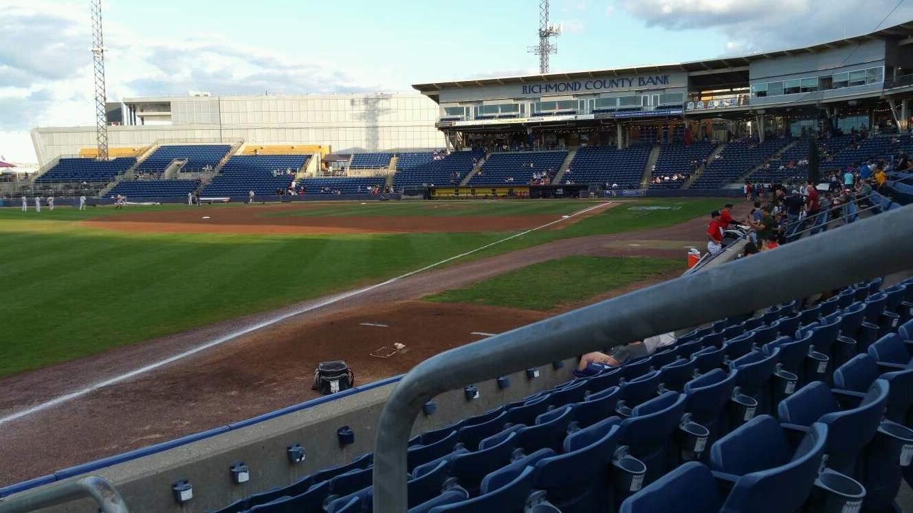 Richmond County Bank Ballpark Section 1 Row F Seat 1