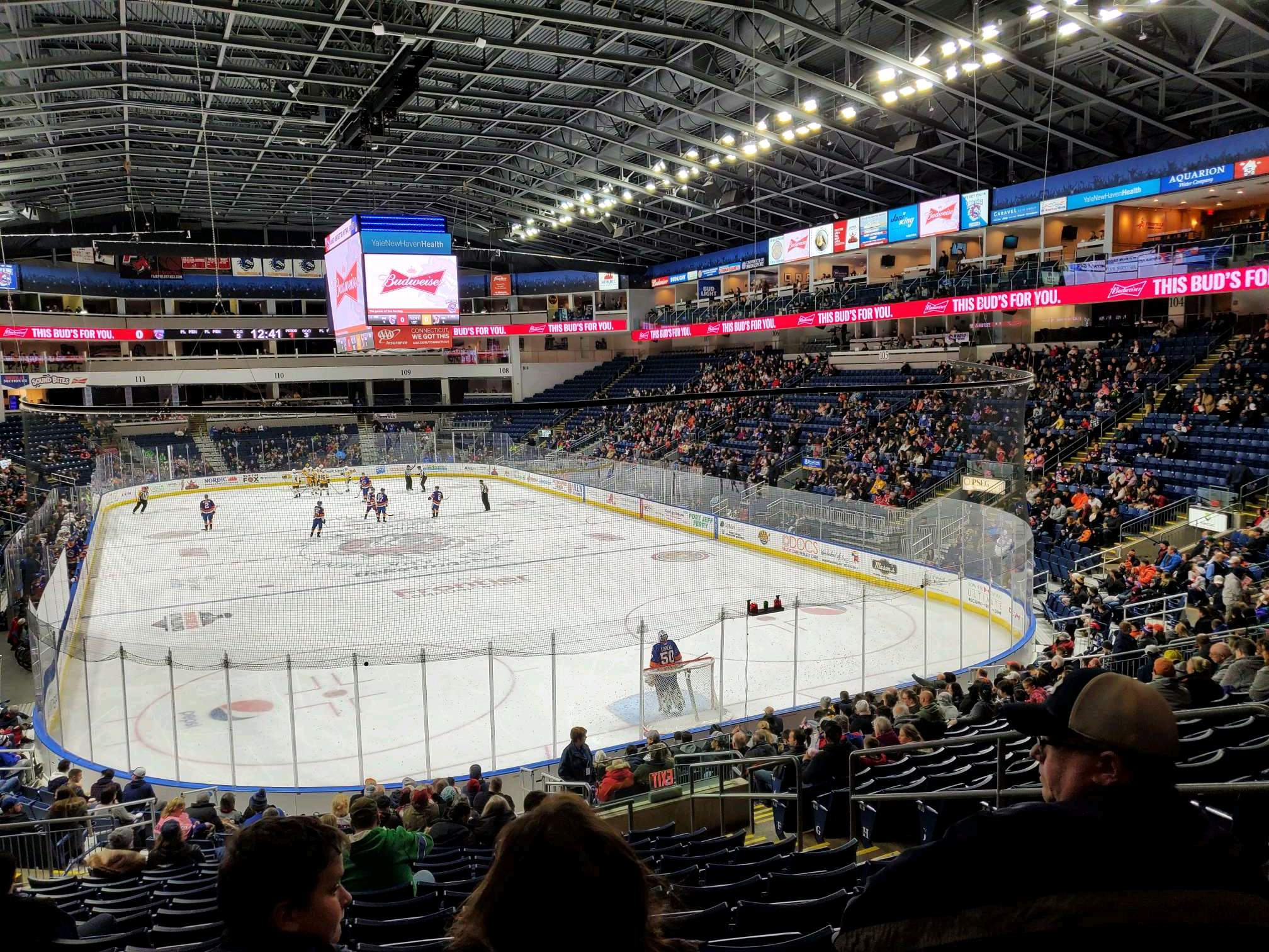 Webster Bank Arena Section 119 Row S Seat 7