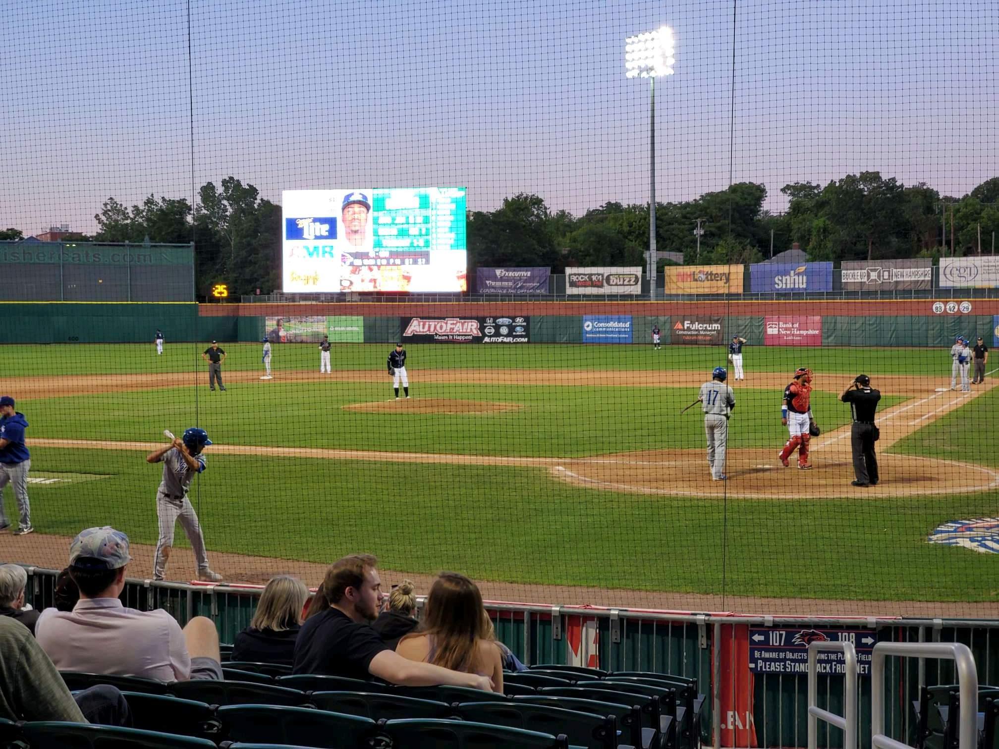 Northeast Delta Dental Stadium Section 107 Row M Seat 1