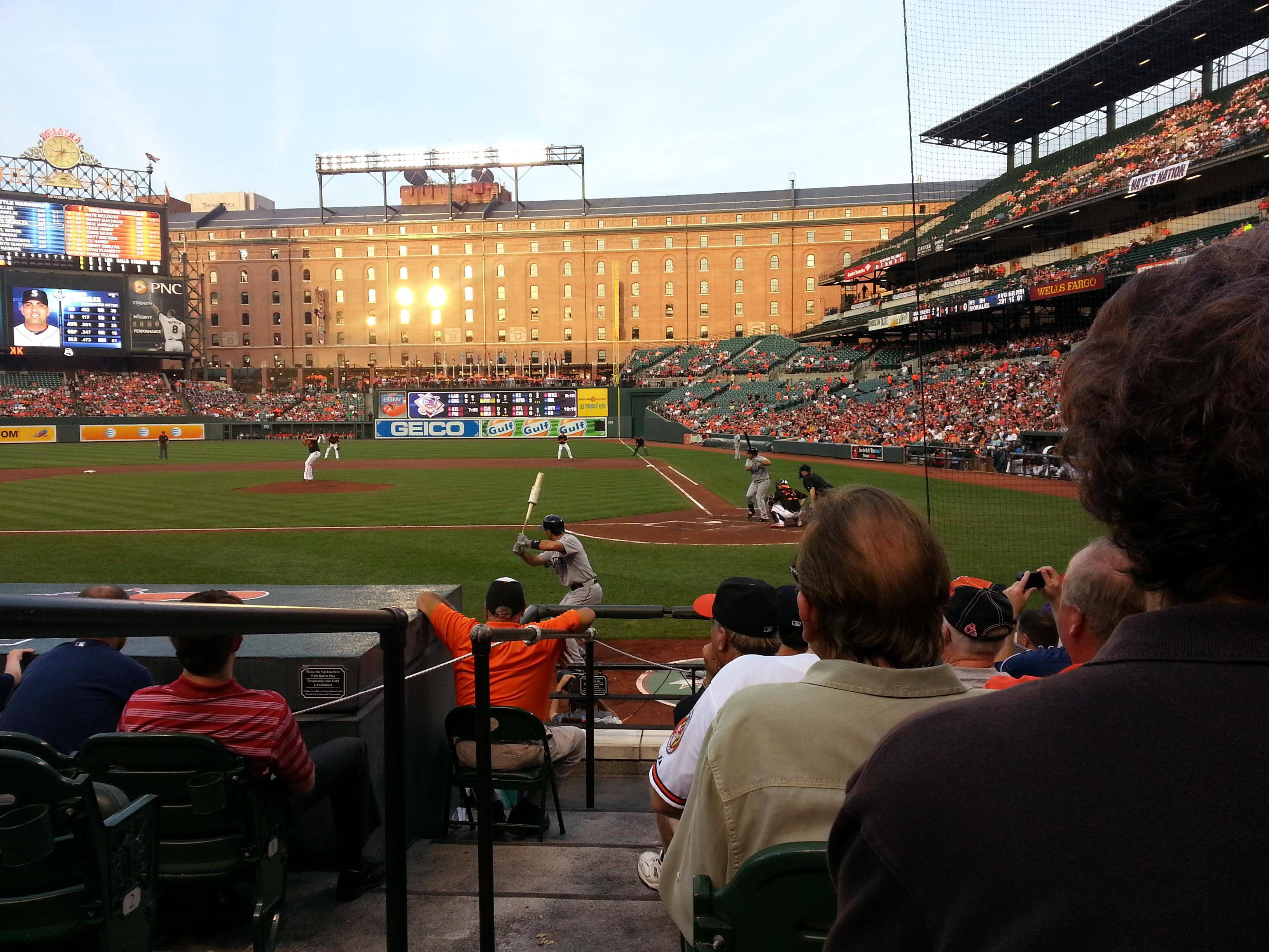 Oriole Park at Camden Yards Section 46 Row 8 Seat 6