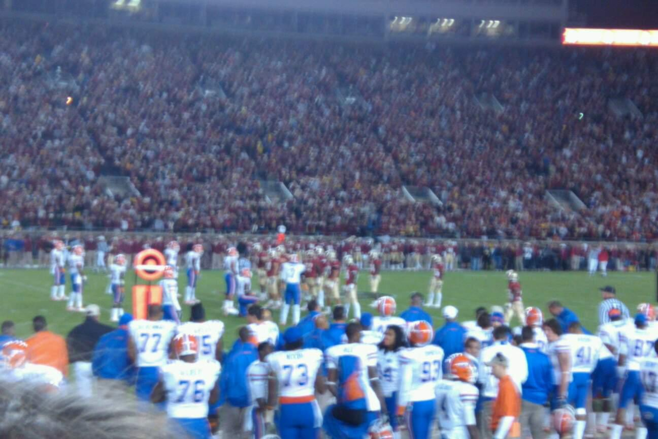 Bobby Bowden Field at Doak Campbell Stadium Section 12 Row 3 Seat 1