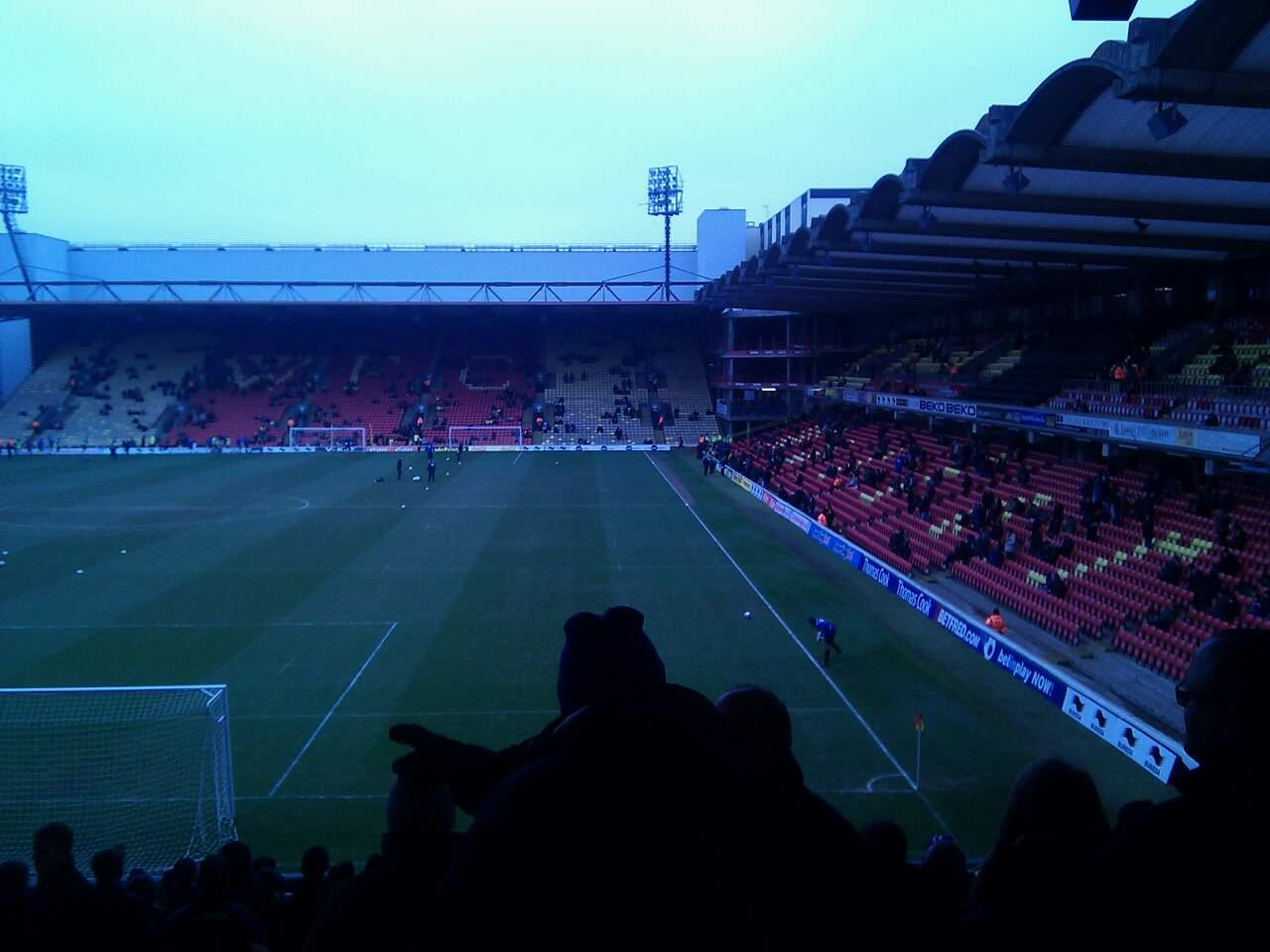 Vicarage Road Section VR4 Row M Seat 150
