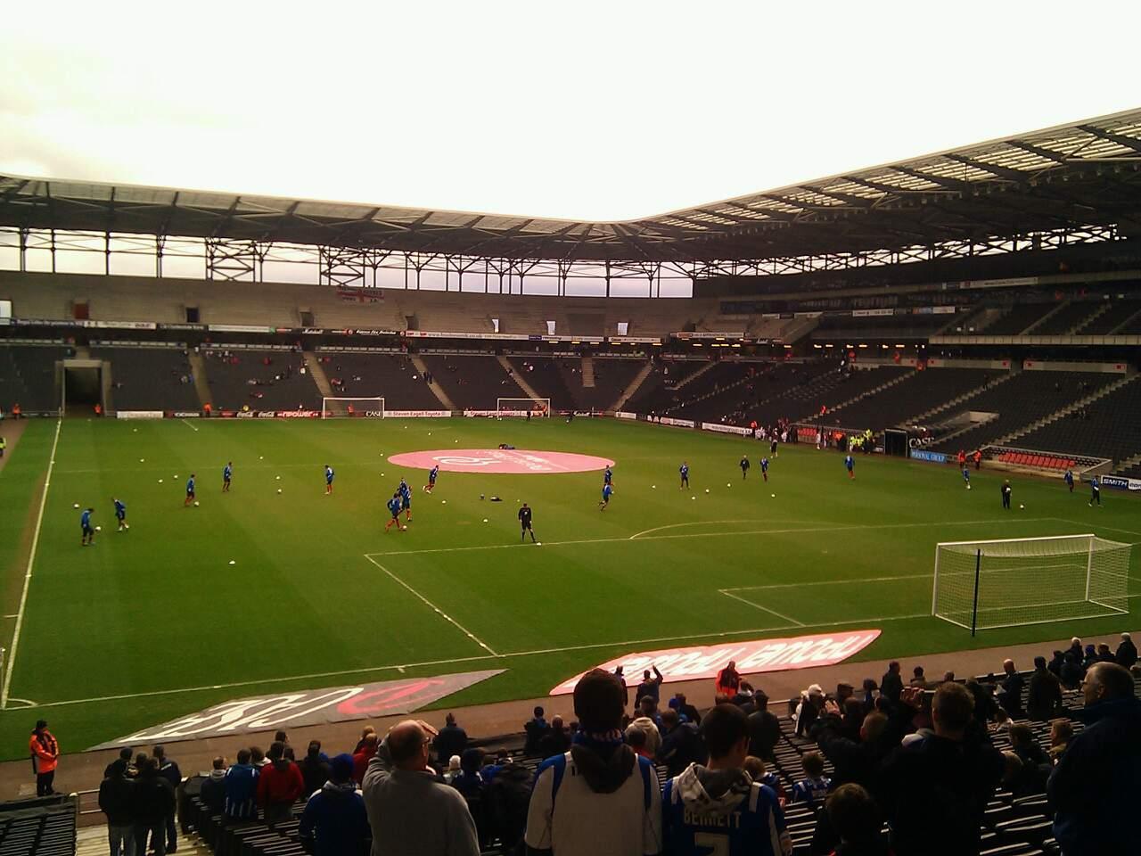 Stadium:MK Section 34 Row DD Seat 972