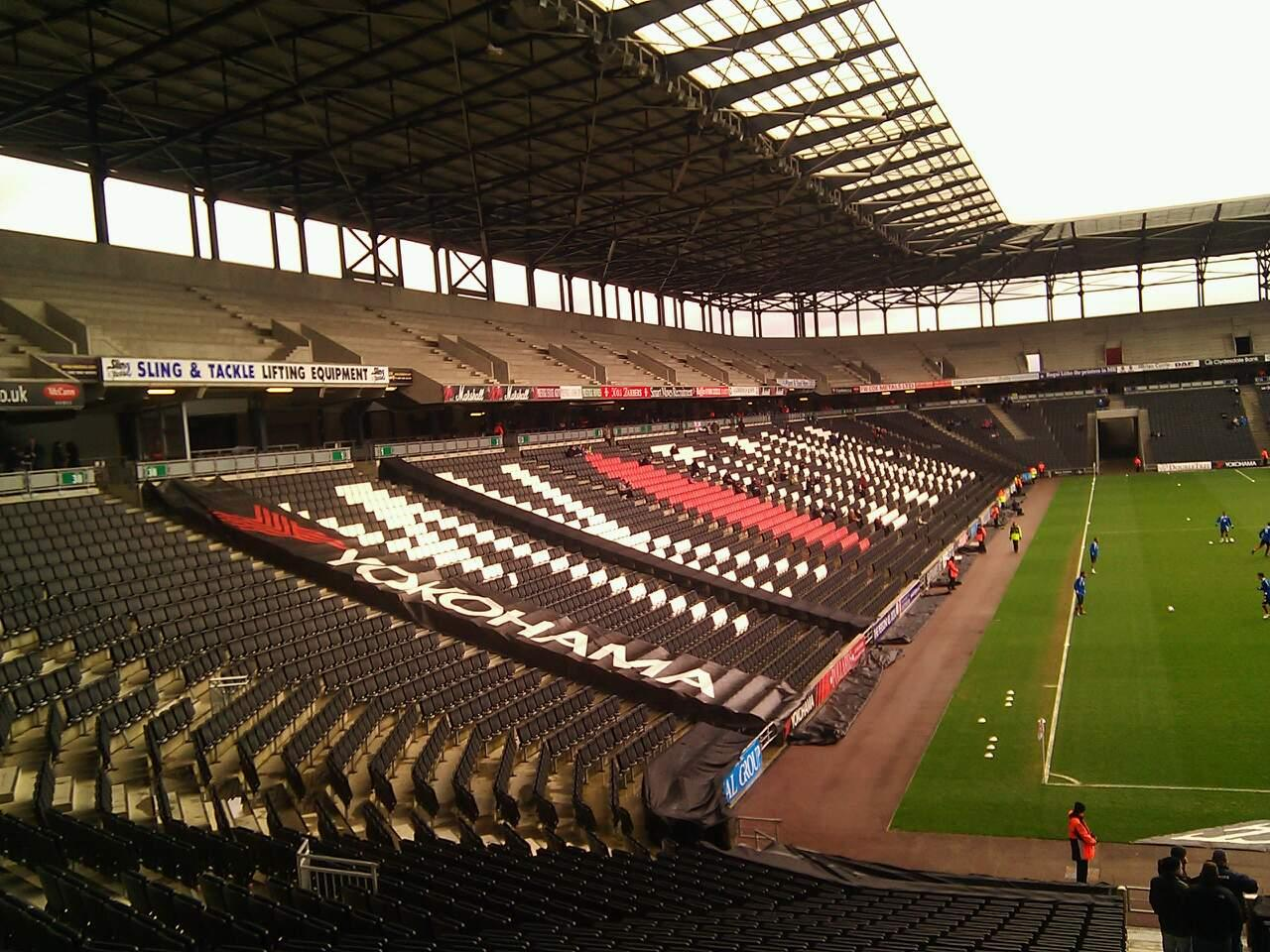 Stadium MK Section 34 Row DD Seat 972