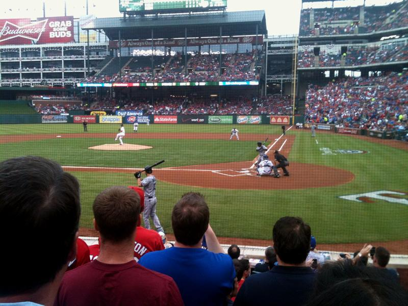 Globe Life Park in Arlington Section 22 Row 7 Seat 9
