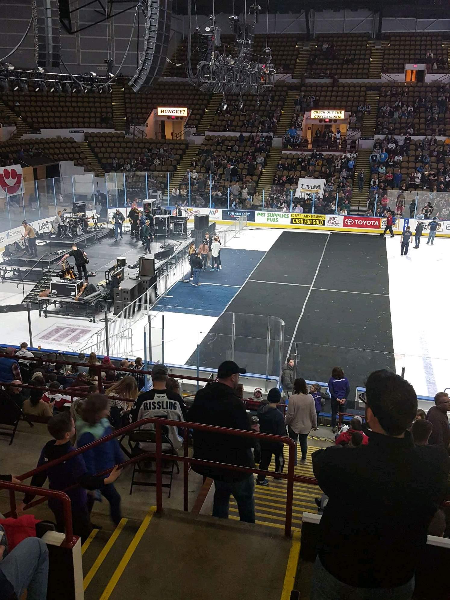 UW-Milwaukee Panther Arena Section 309 Row 5 Seat 12