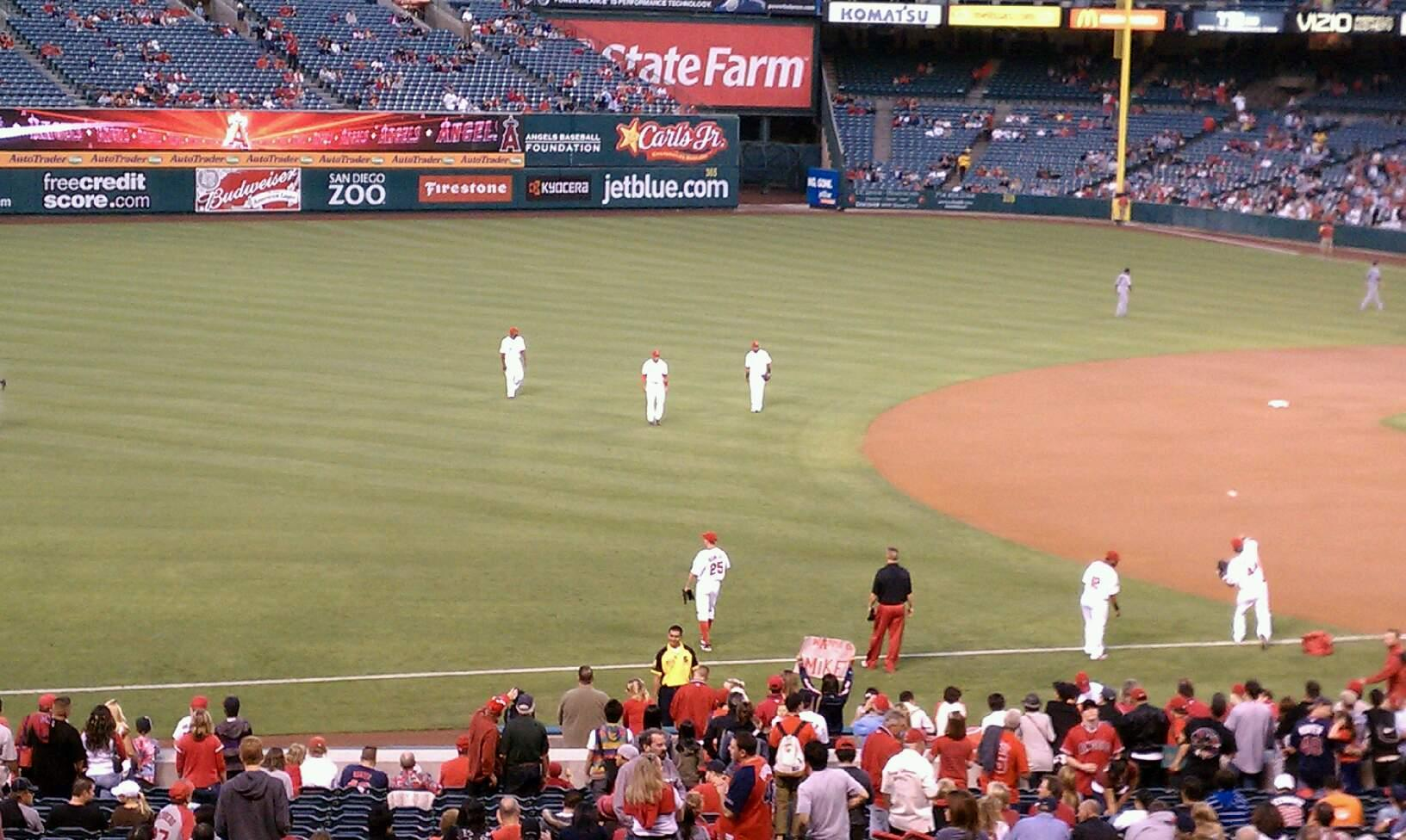 Angel Stadium Section T208 Seat 11