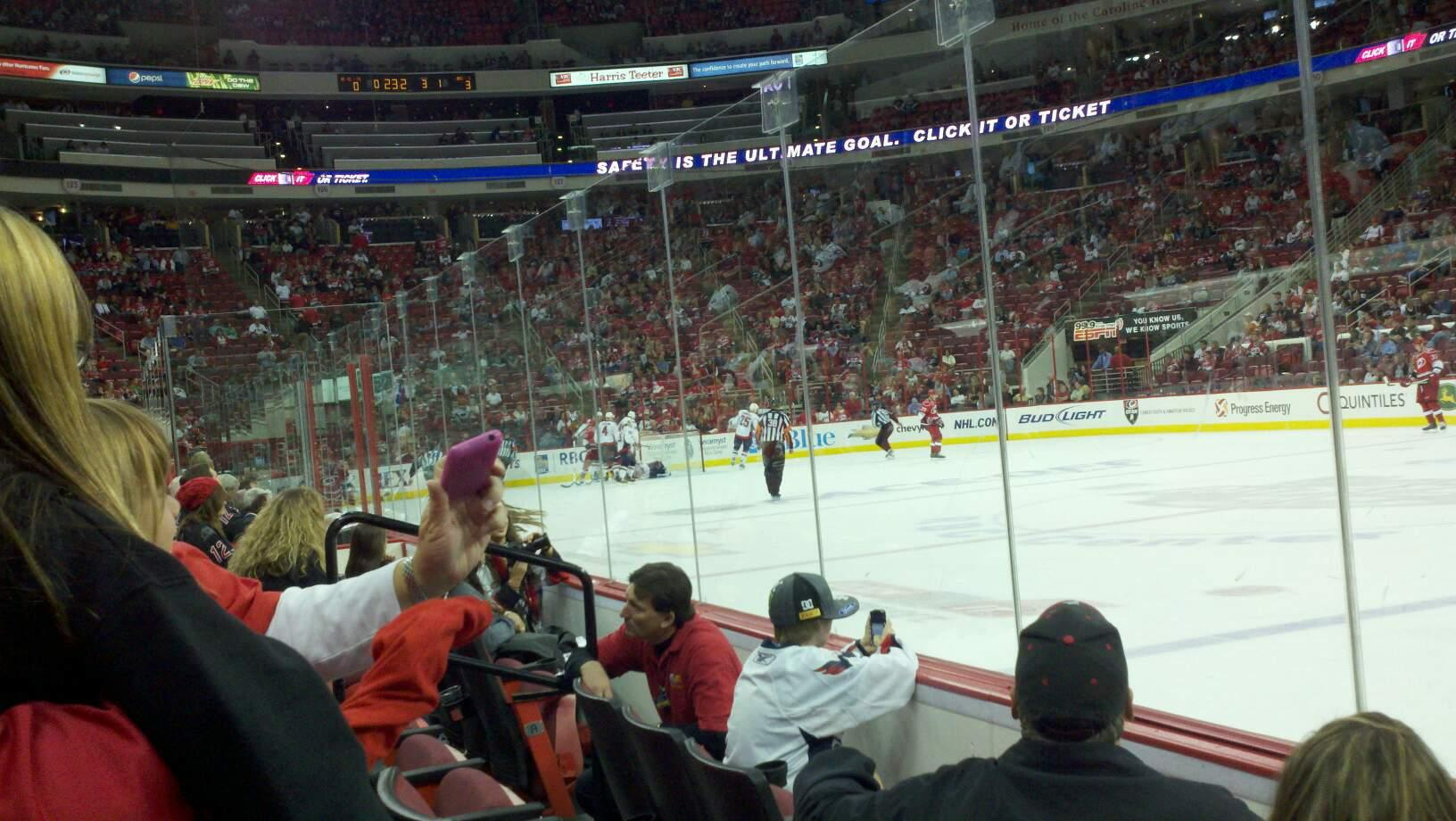 PNC Arena Section 117 Row C Seat 5