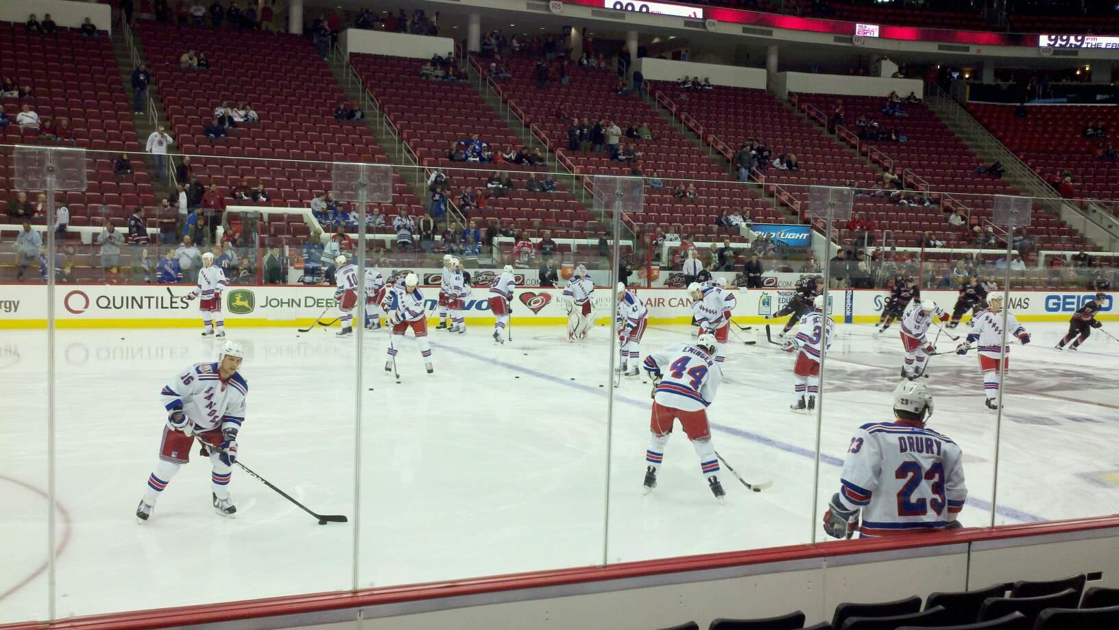 PNC Arena Section 121 Row E Seat 10