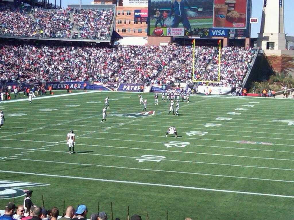 Gillette Stadium Section 218 Row 22 Seat 1