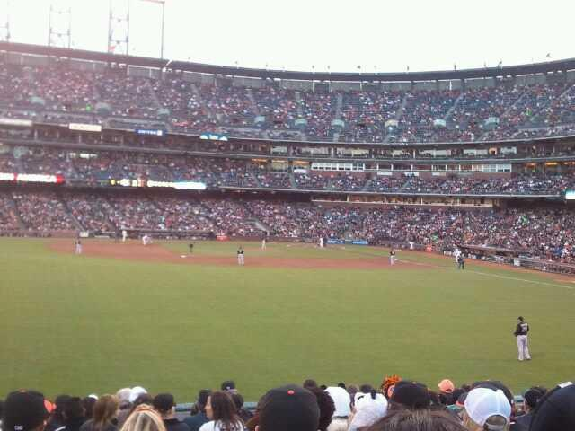 AT&T Park Section 138 Row 17 Seat 22