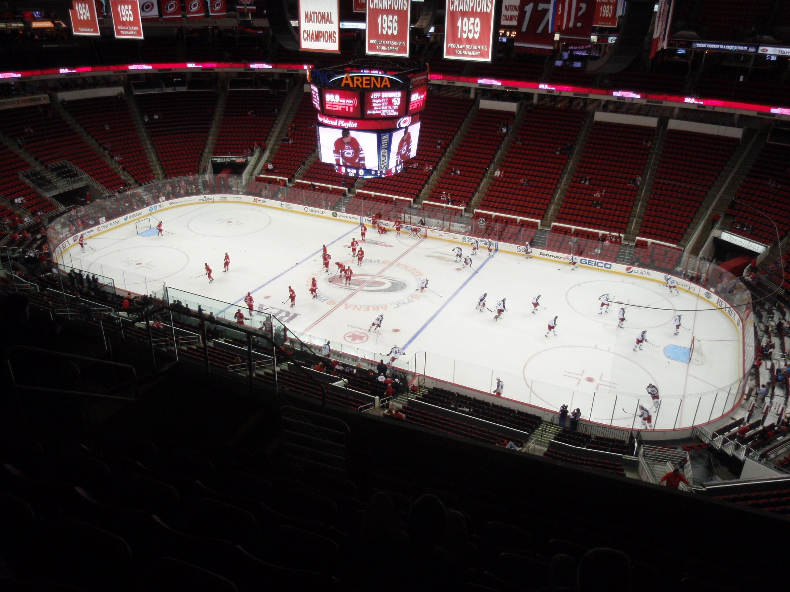 PNC Arena Section 302 Row H Seat 8