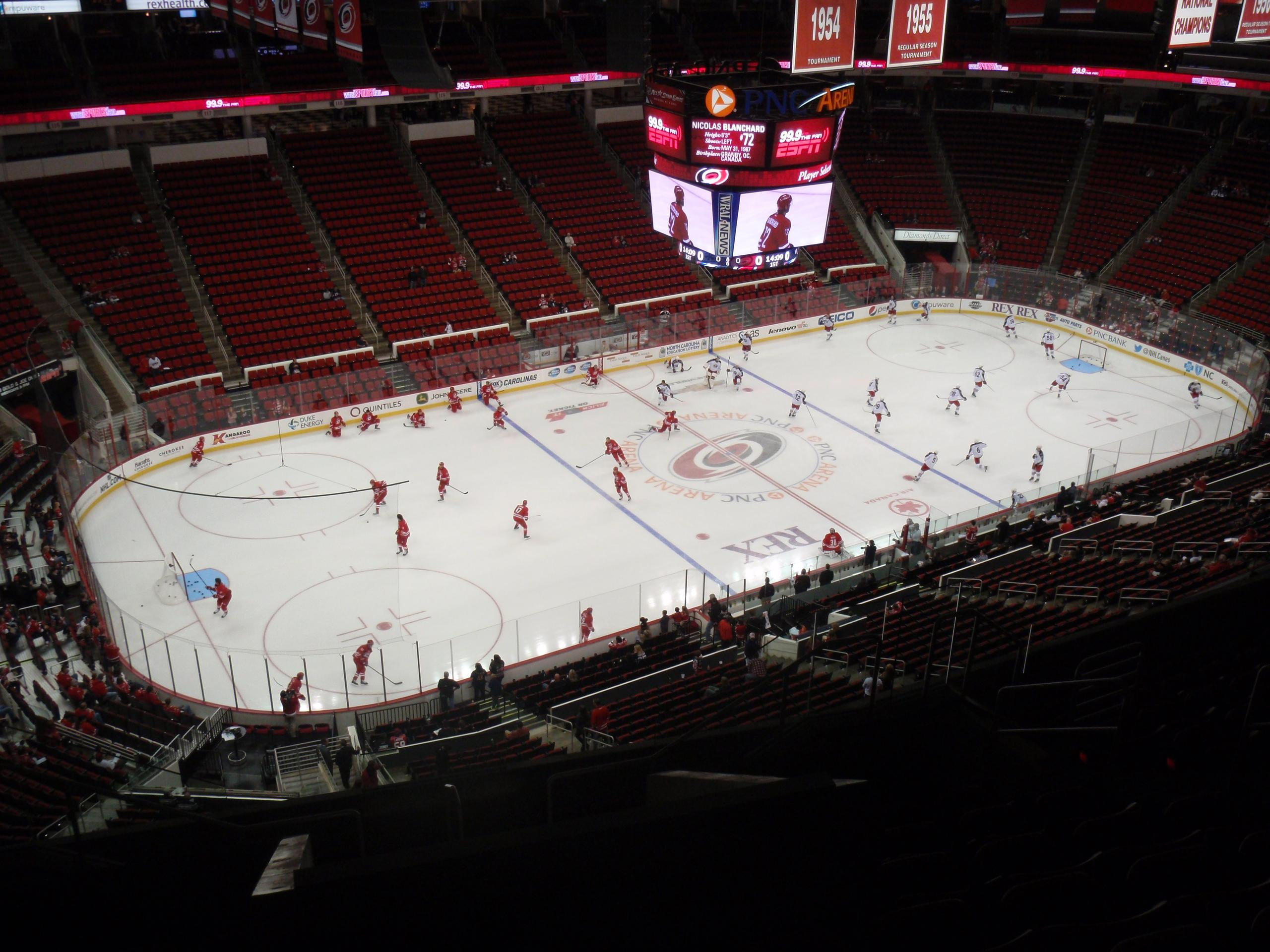 PNC Arena Section 307 Row L Seat 9