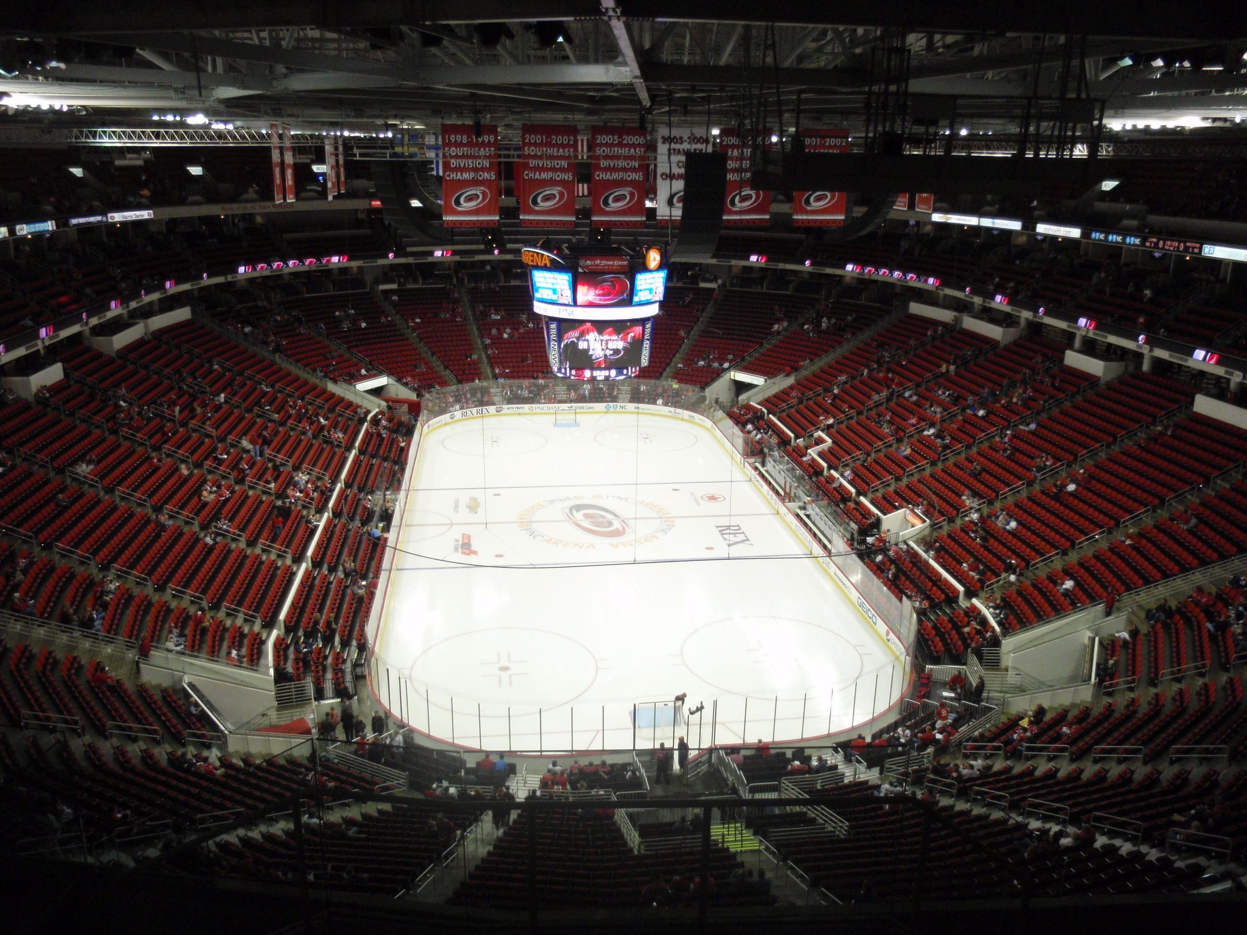 PNC Arena Section 316 Row J Seat 1