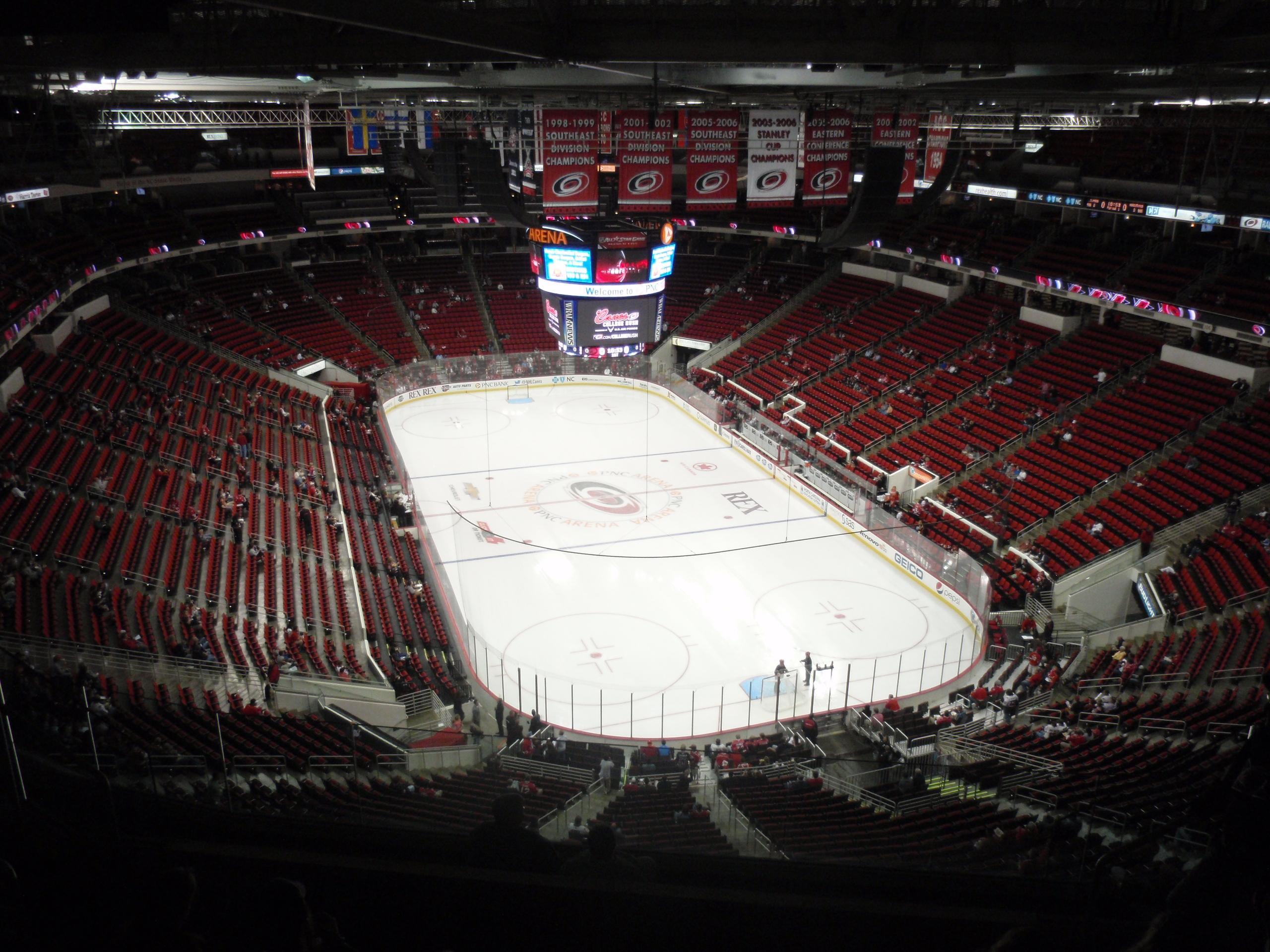 Pnc Arena Section 316 Carolina Hurricanes
