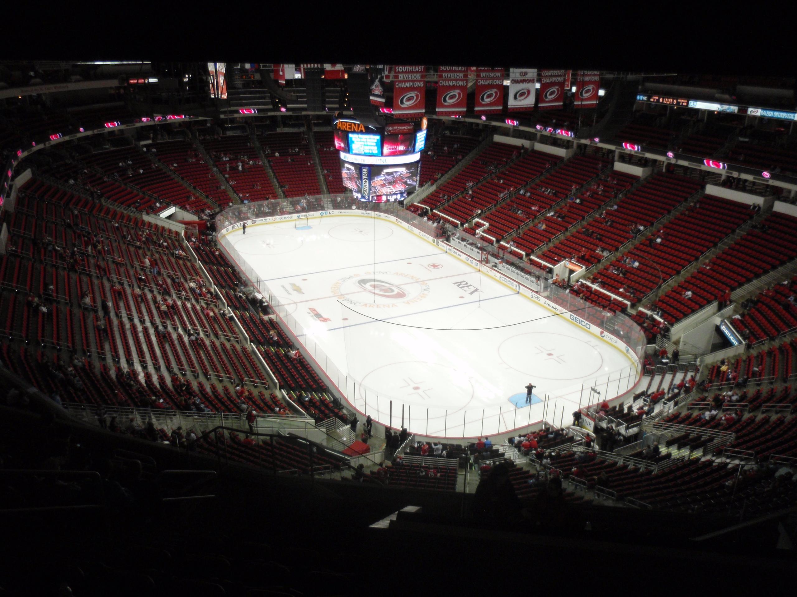Pnc Arena Section 317 Carolina Hurricanes