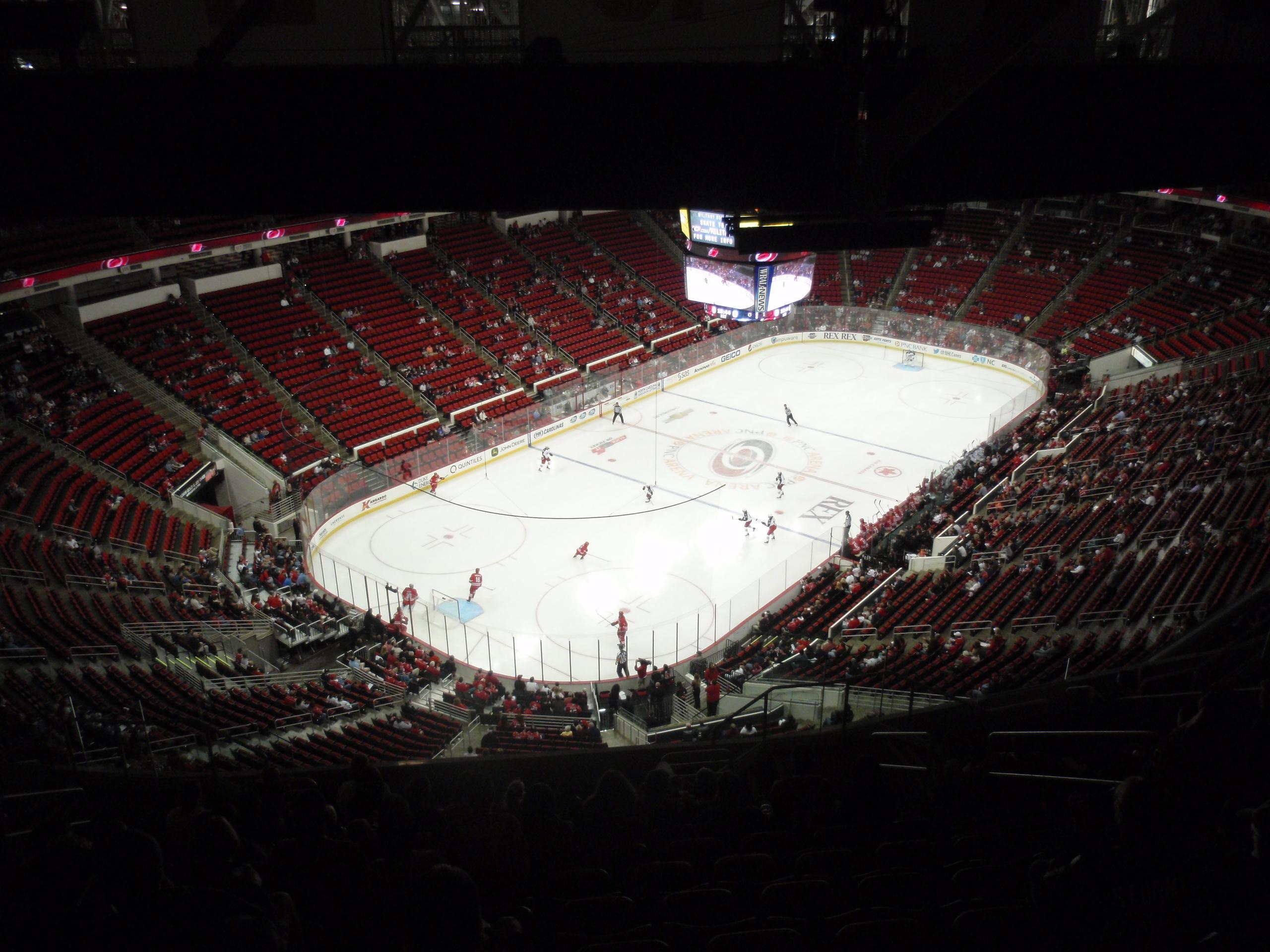 PNC Arena Section 310 Row N Seat 7