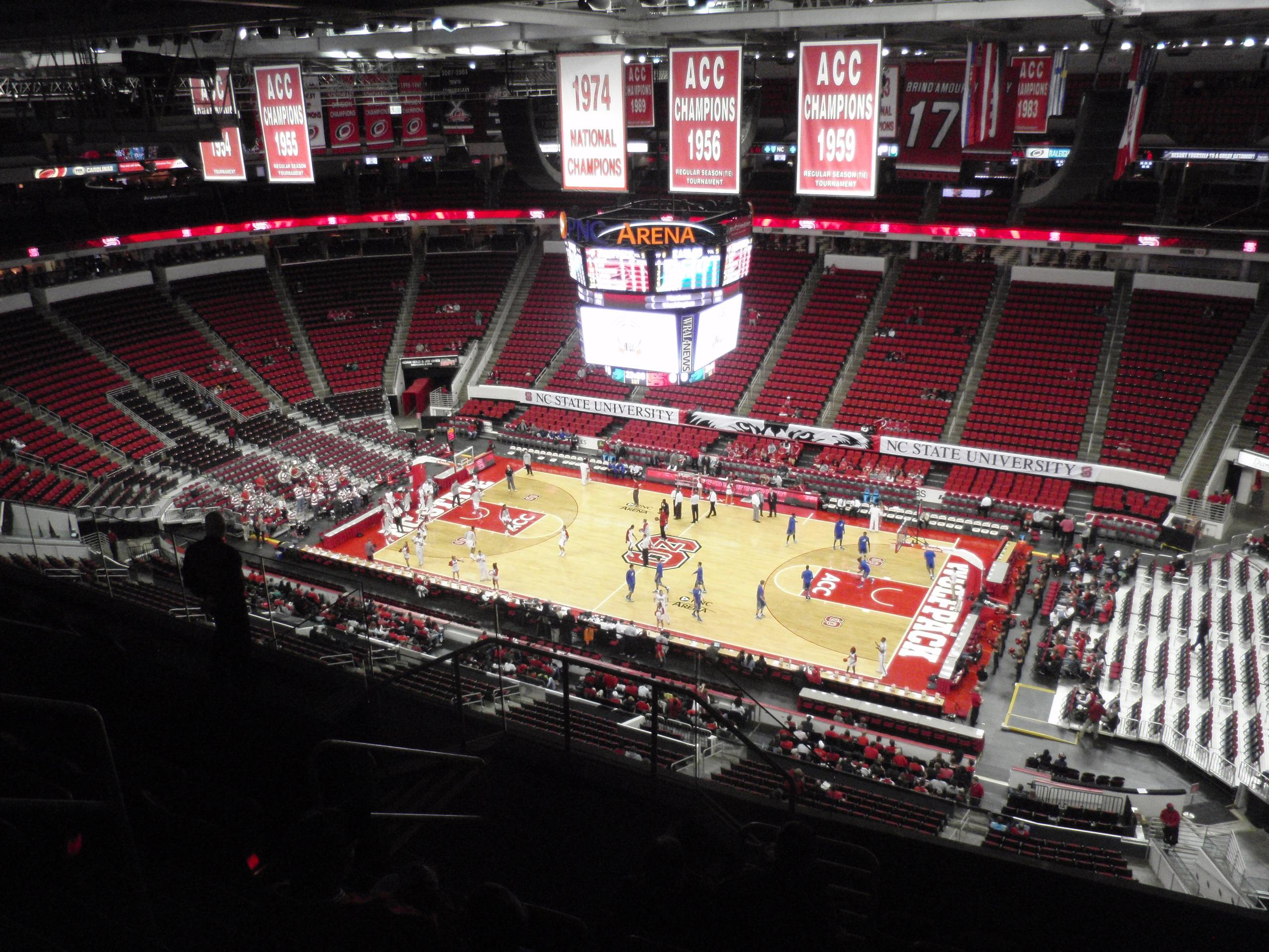 PNC Arena Section 302 Row H Seat 11