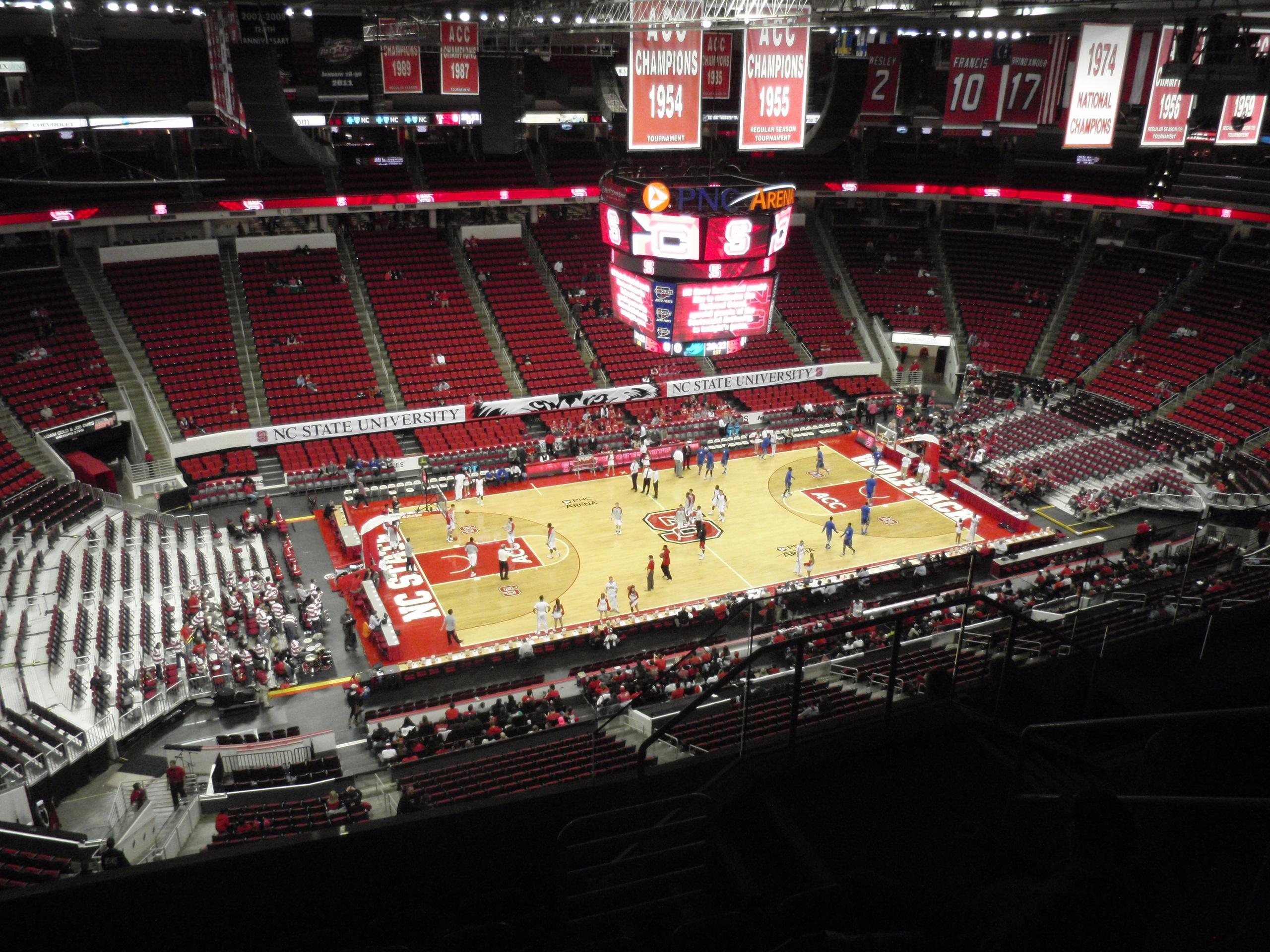 Pnc Arena Section 306 Nc State Basketball