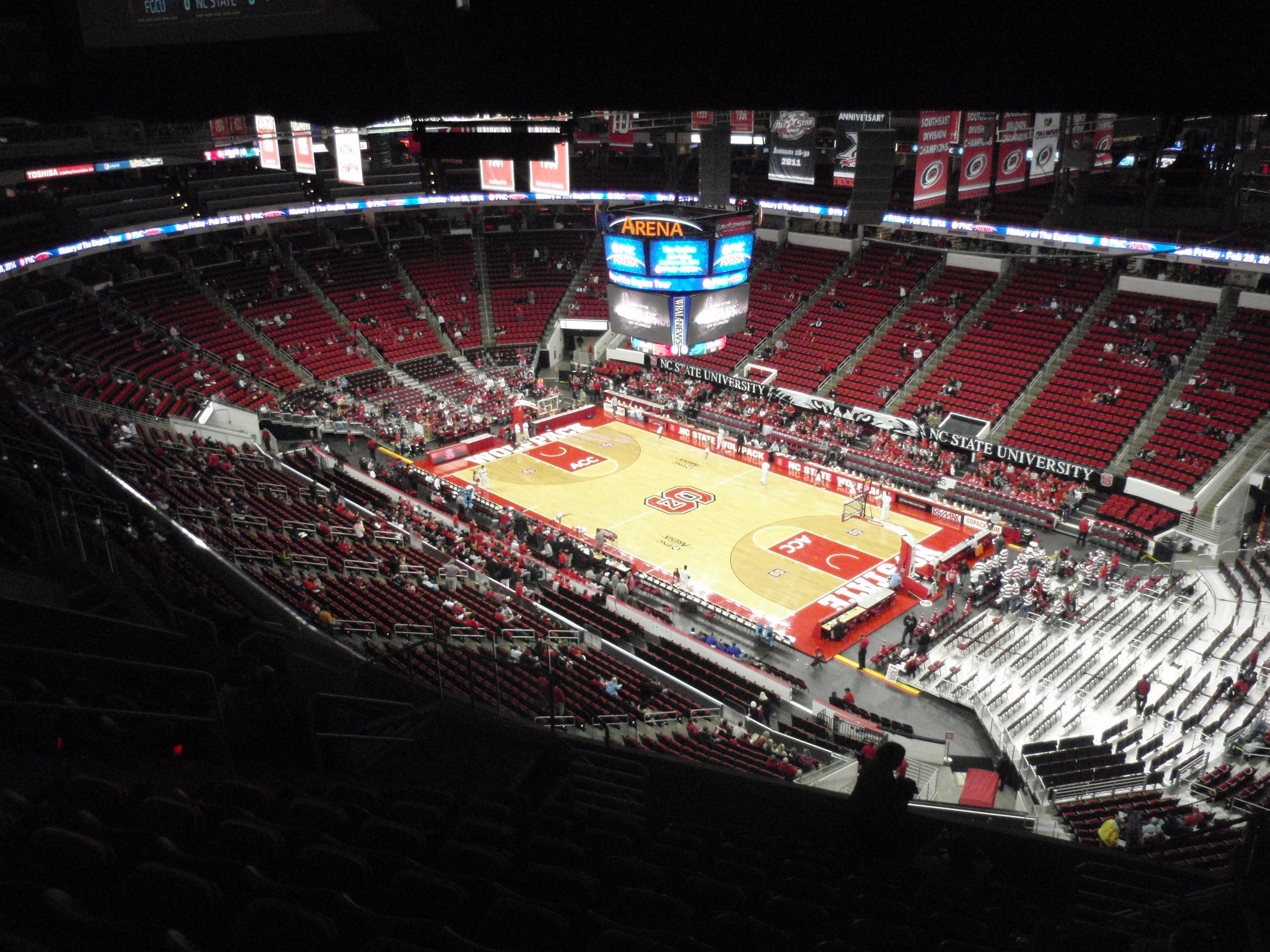 PNC Arena Section 320 Row L Seat 6