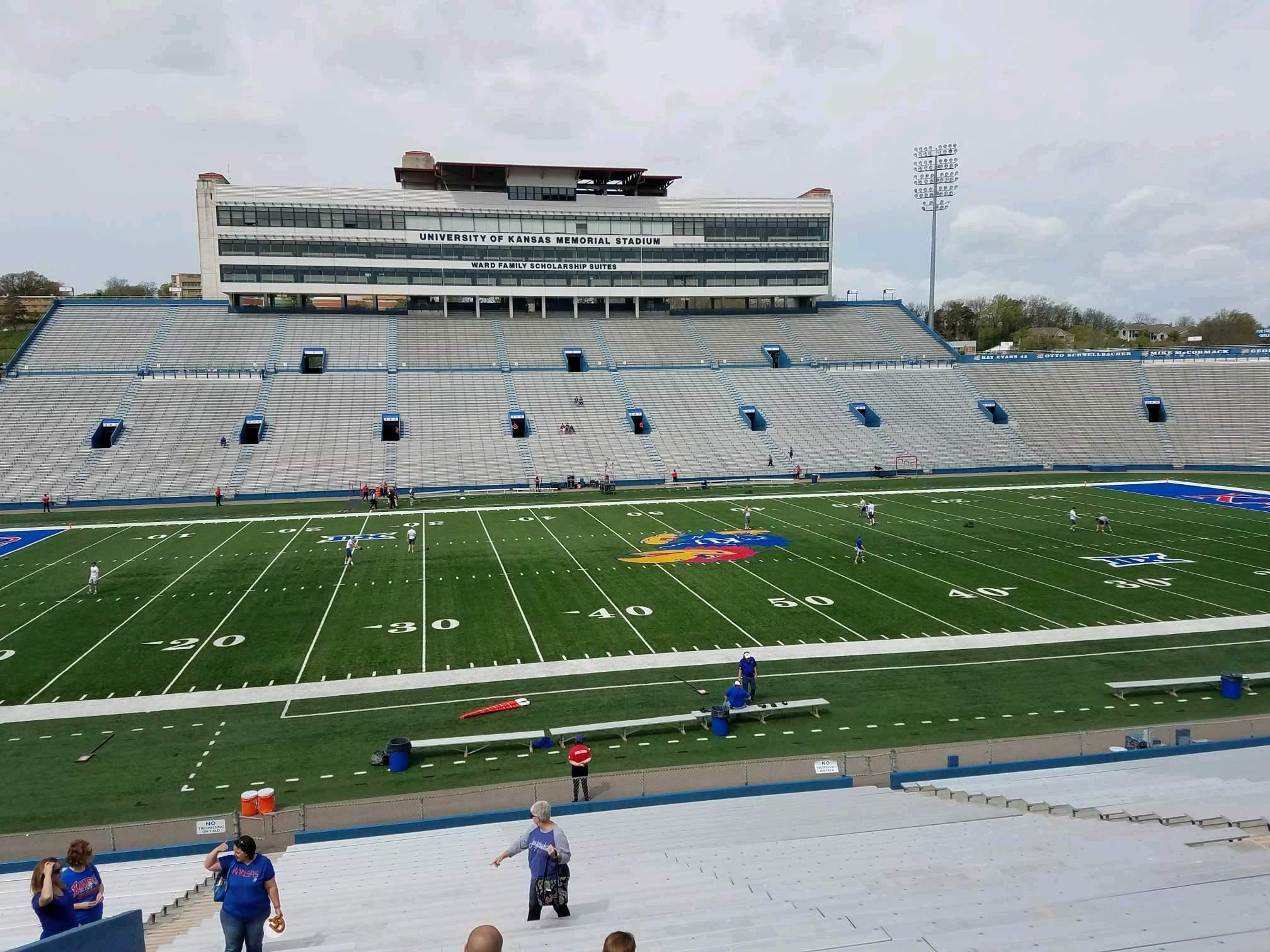 David Booth Kansas Memorial Stadium Section 22 Row 30 Seat 25