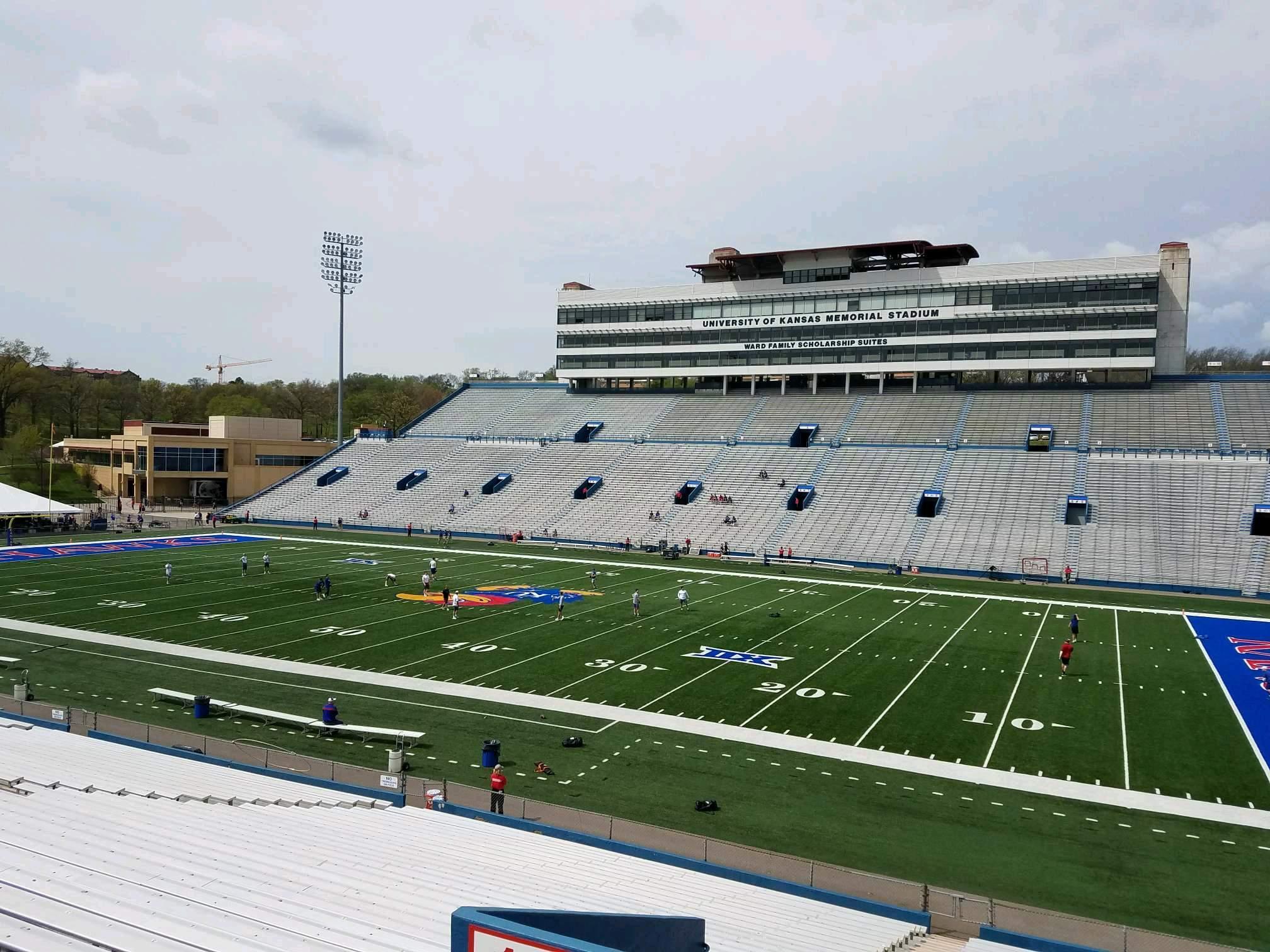 David Booth Kansas Memorial Stadium Section 18 Row 33 Seat 5