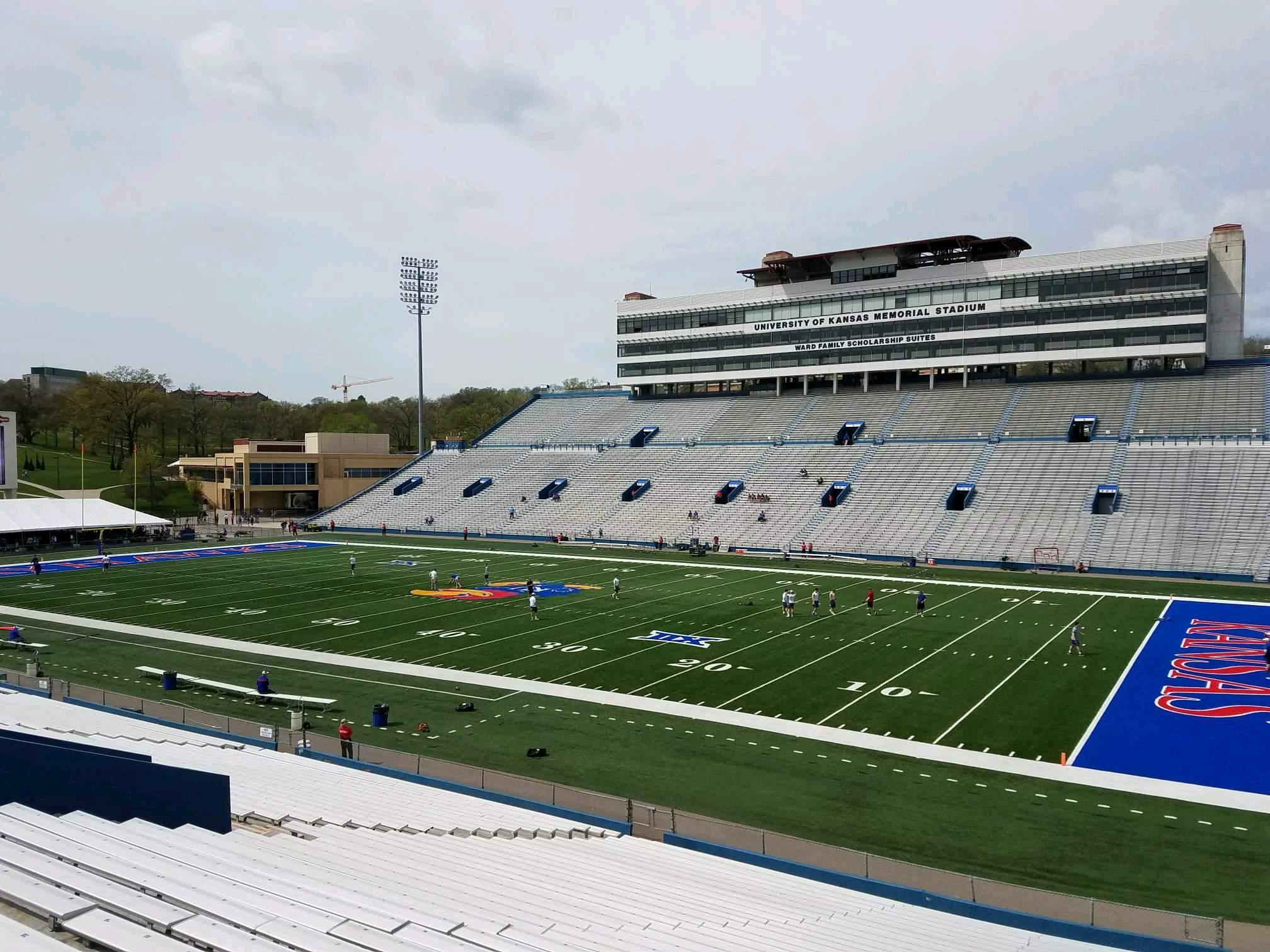 David Booth Kansas Memorial Stadium Section 18 Row 33 Seat 10