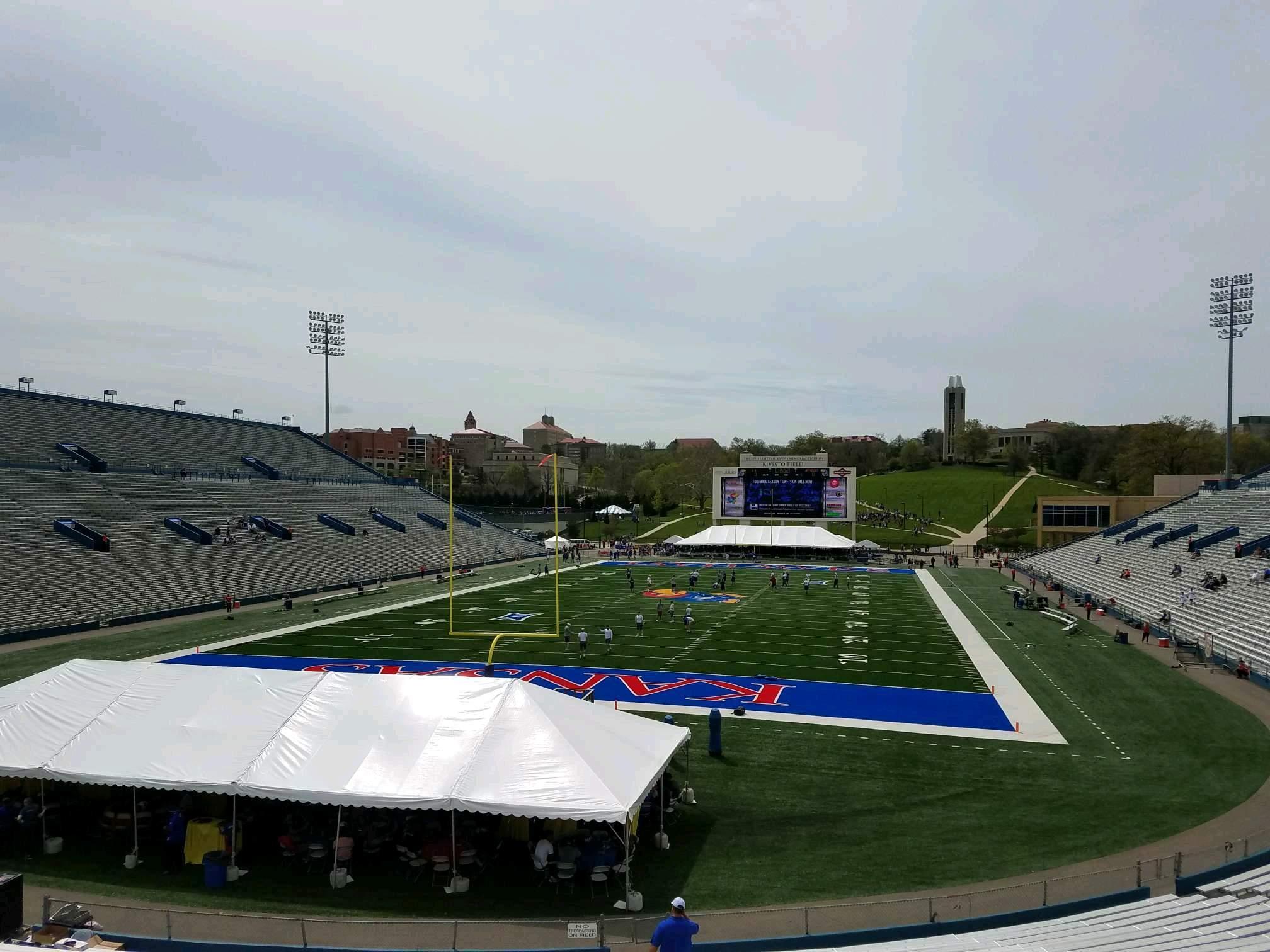 David Booth Kansas Memorial Stadium Section 13 Row 30 Seat 5