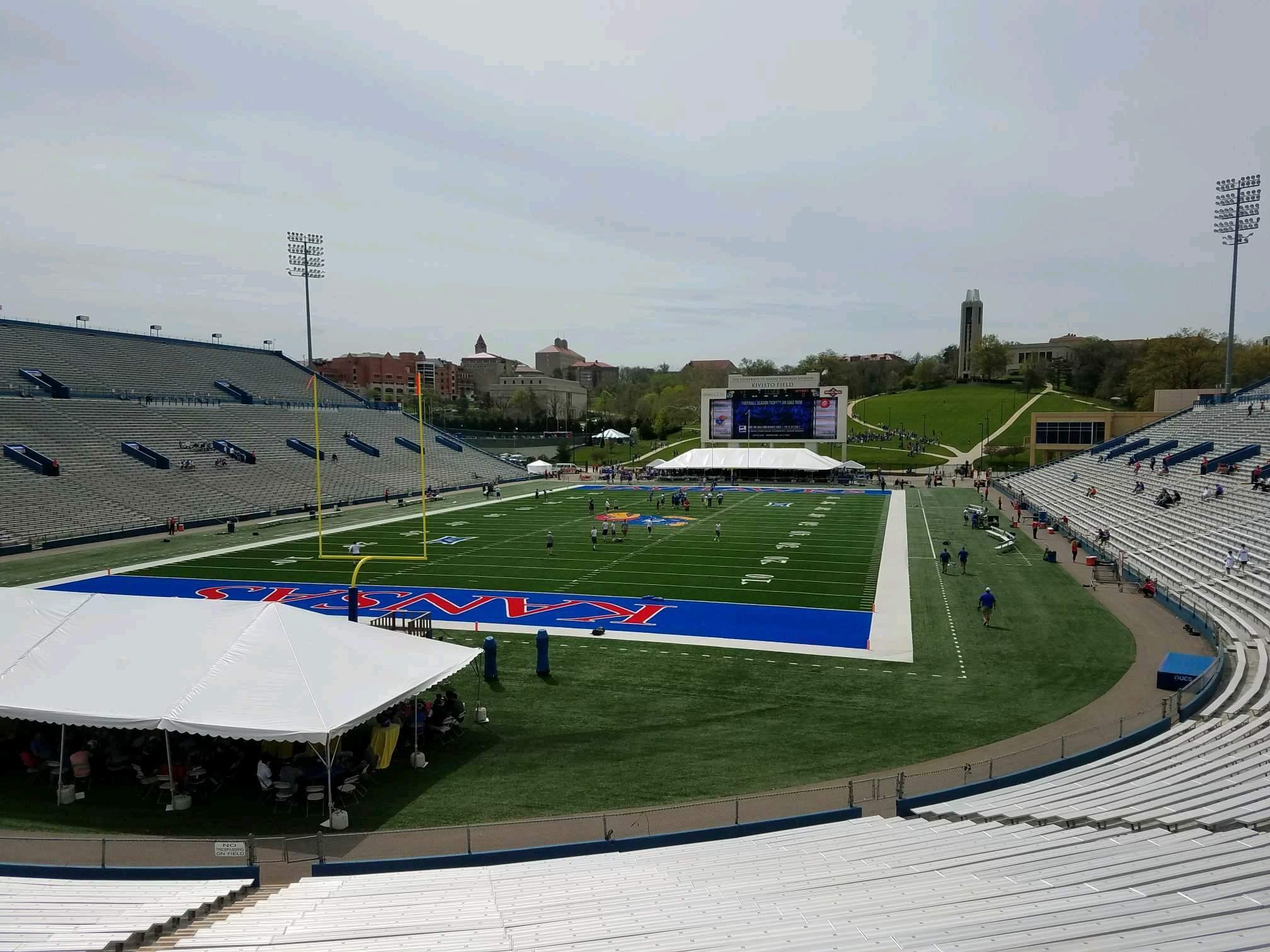 David Booth Kansas Memorial Stadium Section 12 Row 30 Seat 35
