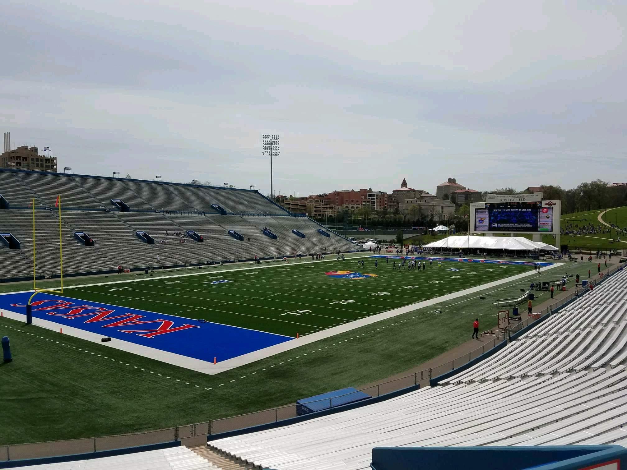 David Booth Kansas Memorial Stadium Section 11 Row 30 Seat 7