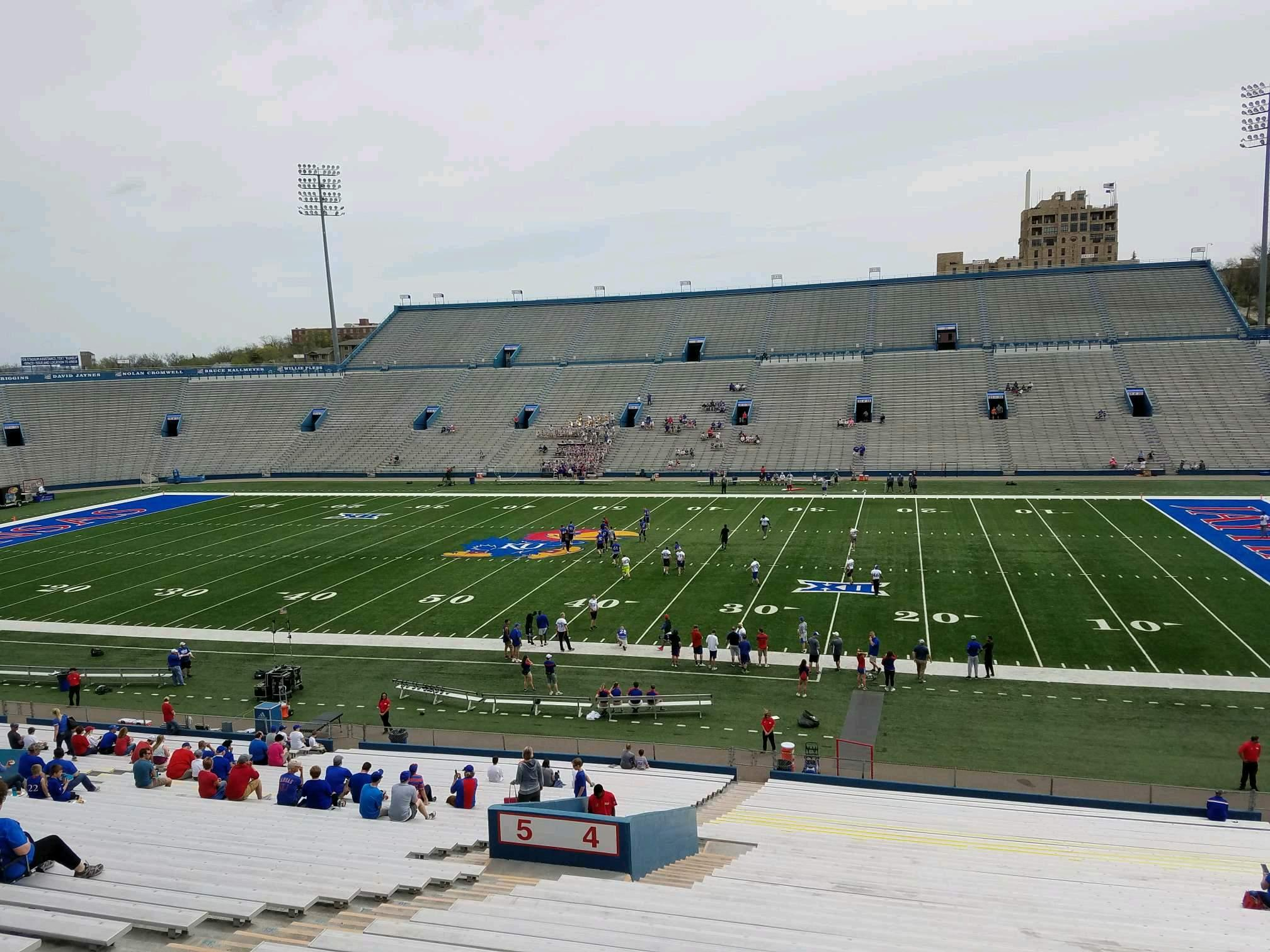 David Booth Kansas Memorial Stadium Section 4 Row 42 Seat 23