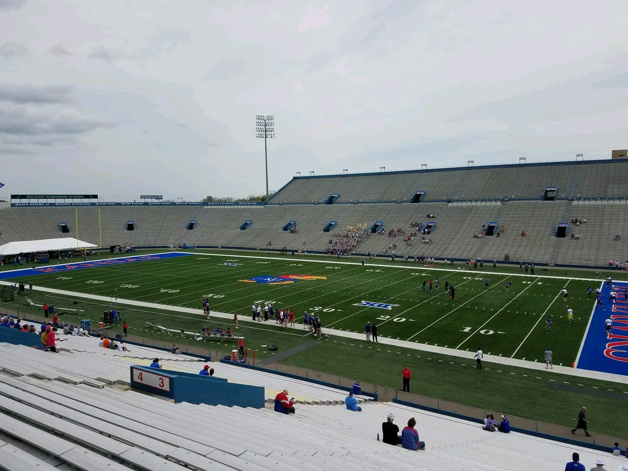 David Booth Kansas Memorial Stadium Section 3 Row 39 Seat 5