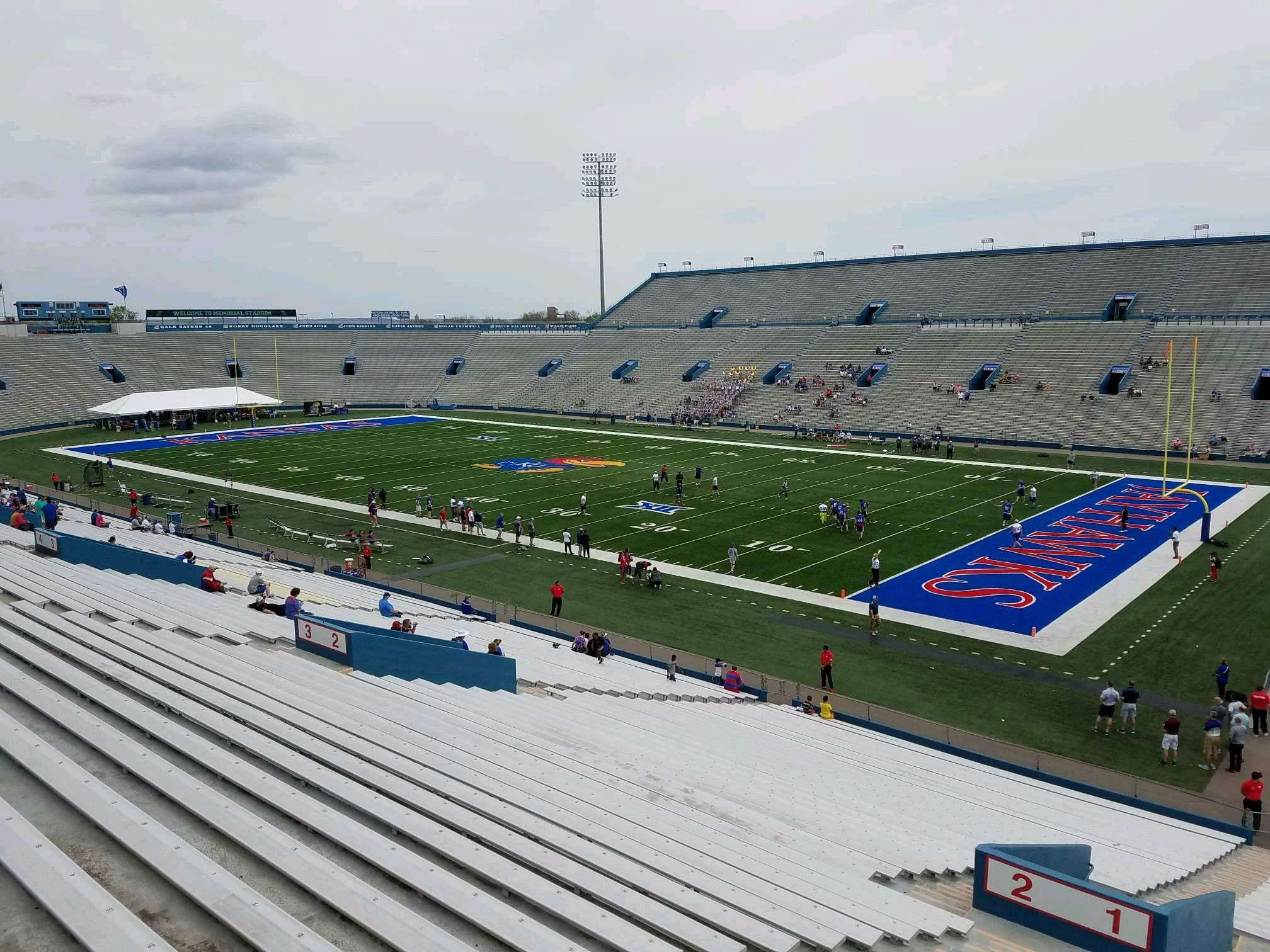 David Booth Kansas Memorial Stadium Section 1 Row 40 Seat 5