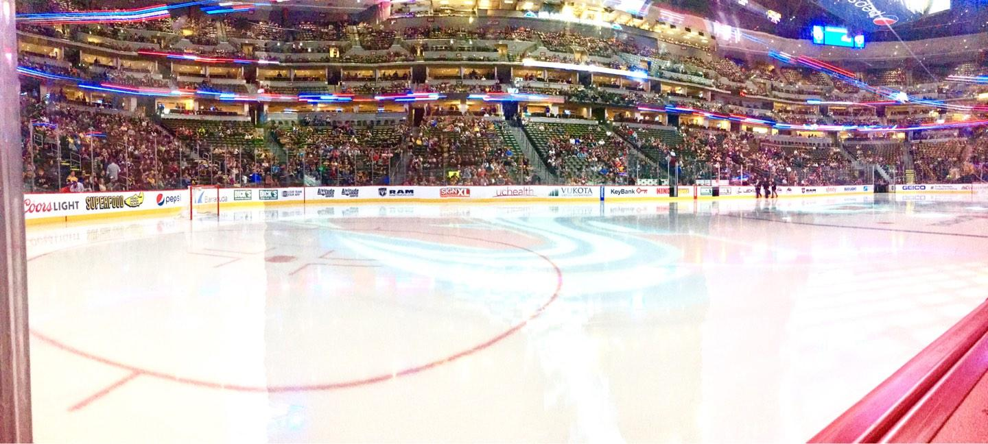 Pepsi Center Section 104 Row 1 Seat 13