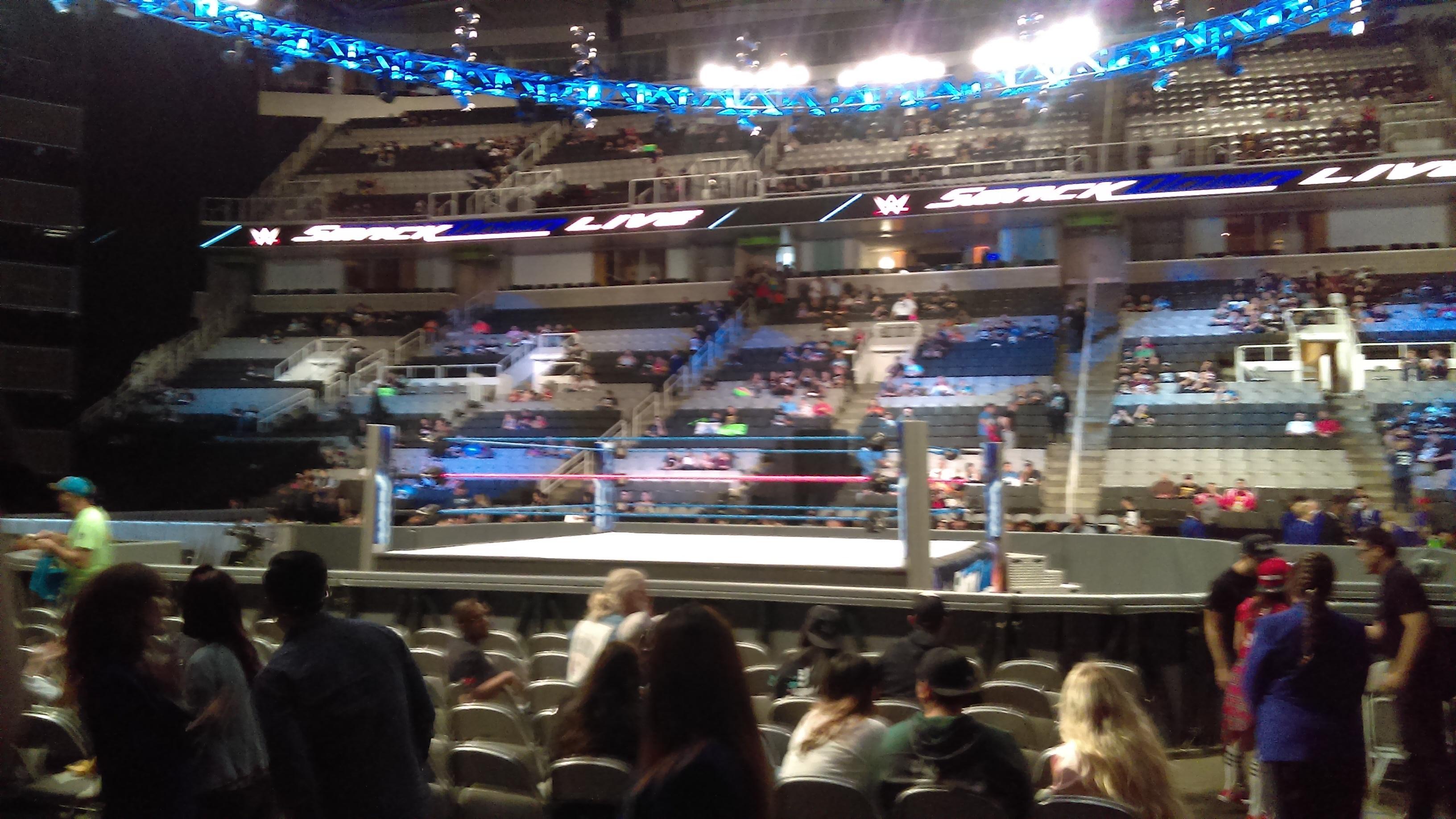 SAP Center at San Jose Section 114 Row 3 Seat 23