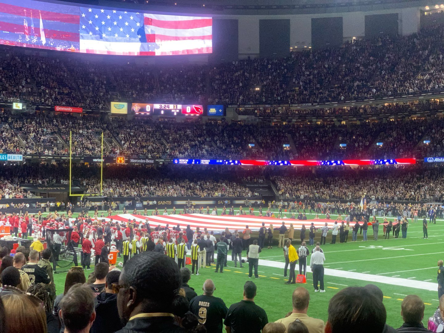 Caesars Superdome Section 107 Row 111 Seat 15