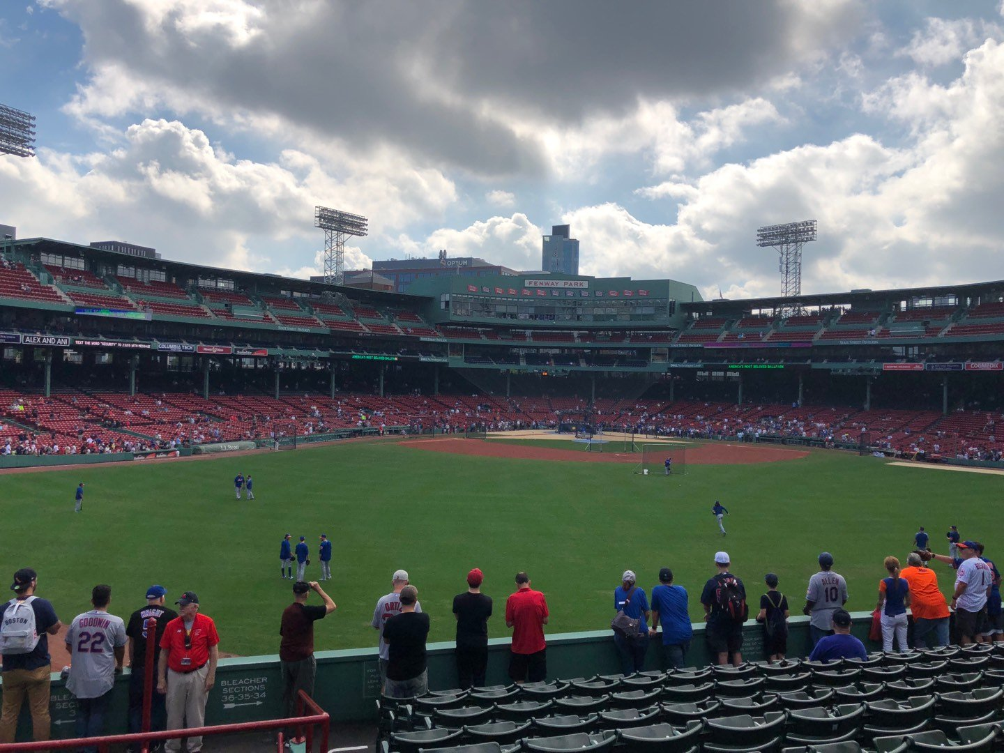 Fenway Park Section Bleacher 36 Row 12 Seat 25
