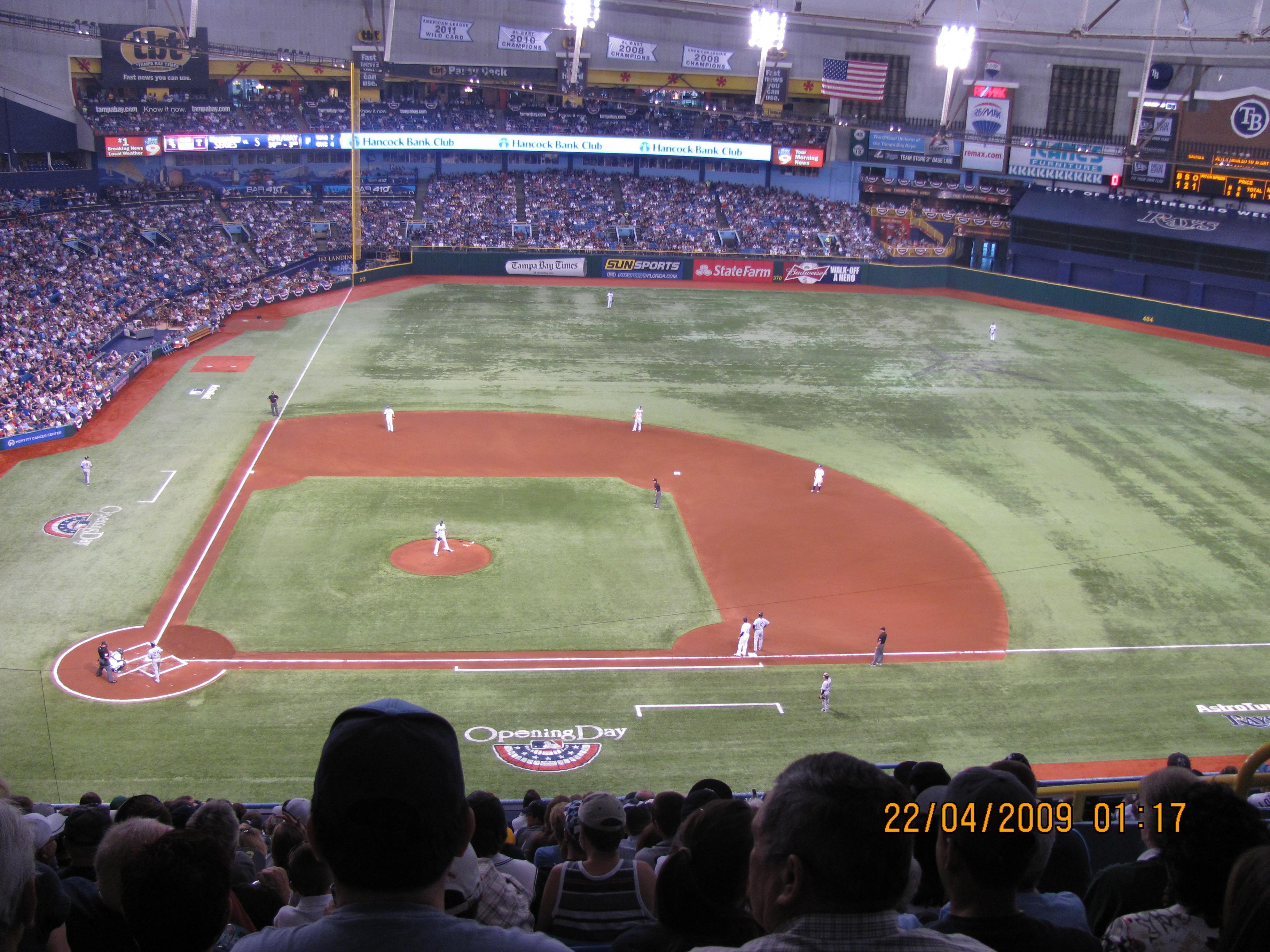 Tropicana Field Section 312 Row S Seat 12